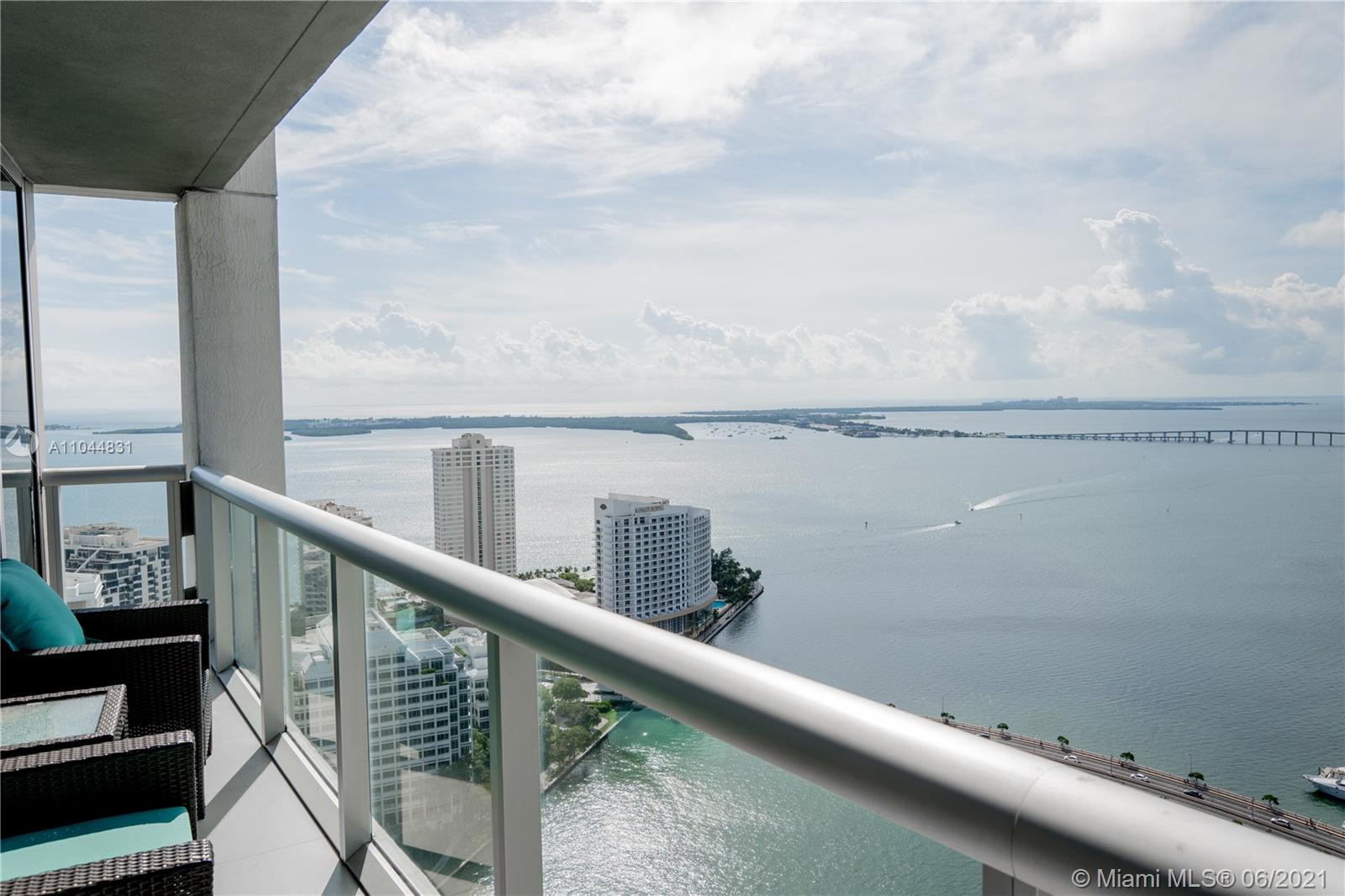 Highly sought after corner unit with breath taking views of the bay, downtown & the surrounding islands! Fully upgraded with unique designer finishes & top of the line details throughout. Carrara marble counters, custom LED lighting, mosaic tiling & marble walls & built-in sound system. This spacious unit comes with 2 parking spots and the building offers full service amenities: Spa & fitness center, recently renovated pool deck (All assessments paid in full), 24/7 Concierge/Valet. Steps from Brickell City Centre, Supermarkets, cafes, some of the best restaurants and bars/rooftops Miami has to offer and only 15 min ride to the airport and 15 min ride to the beach! Can show with short notice.