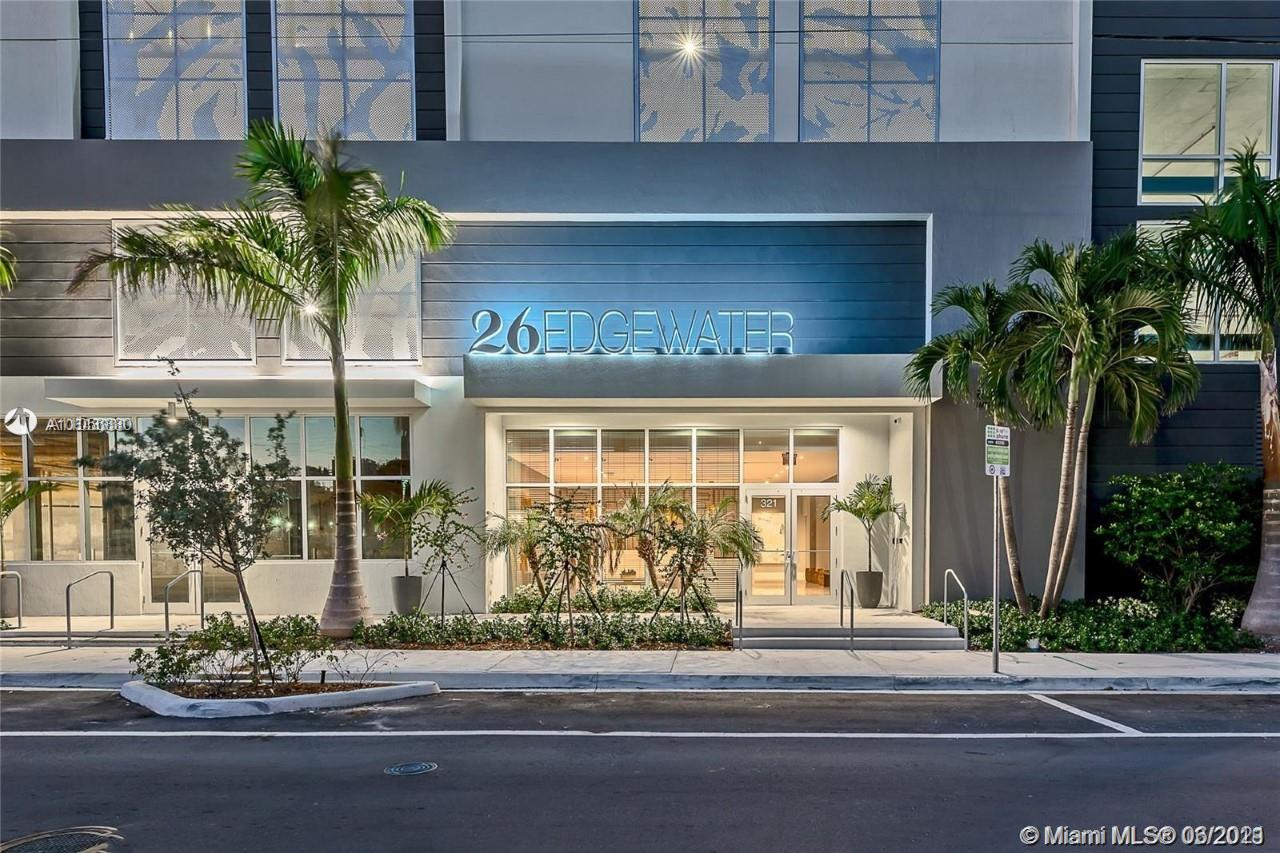 Back on the market ......welcome to 26 Edgewater! Brand new unit in Miami Edgewater district. This Boutique condo building was recently completed. Beautiful 1 bedroom and 1 bath unit with partial water views and down town sky line views from your private balcony. Unit features washer and dryer in unit , quarts counter tops with open kitchen , S/S appliances , 1 covered gated parking , black out shades , glass shower enclosure . Building features: secured lobby entrance , roof top pool with tanning areas , exercise room , party room and lots more amenities . Walking distance to Wynwood and Design district . Tenant occupied until June 28th