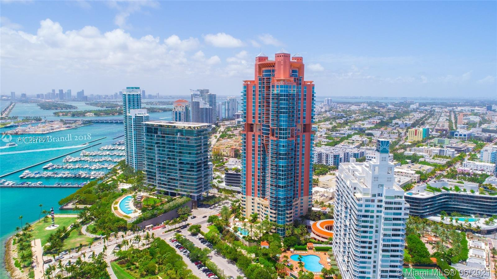 Beautiful remodeled three bedroom at the exclusive Portofino Tower located in the ultra-chic (SOFI) area of South Beach. Enjoy views of the Ocean, Miami Beach, and Government Cut. This 3 bed 2.5 bath (2,340s/f) unit has been completely remodeled and offers two private balconies. This full service luxury building offers 24hr security, valet, concierge, world class fitness center & spa, pool and tennis.