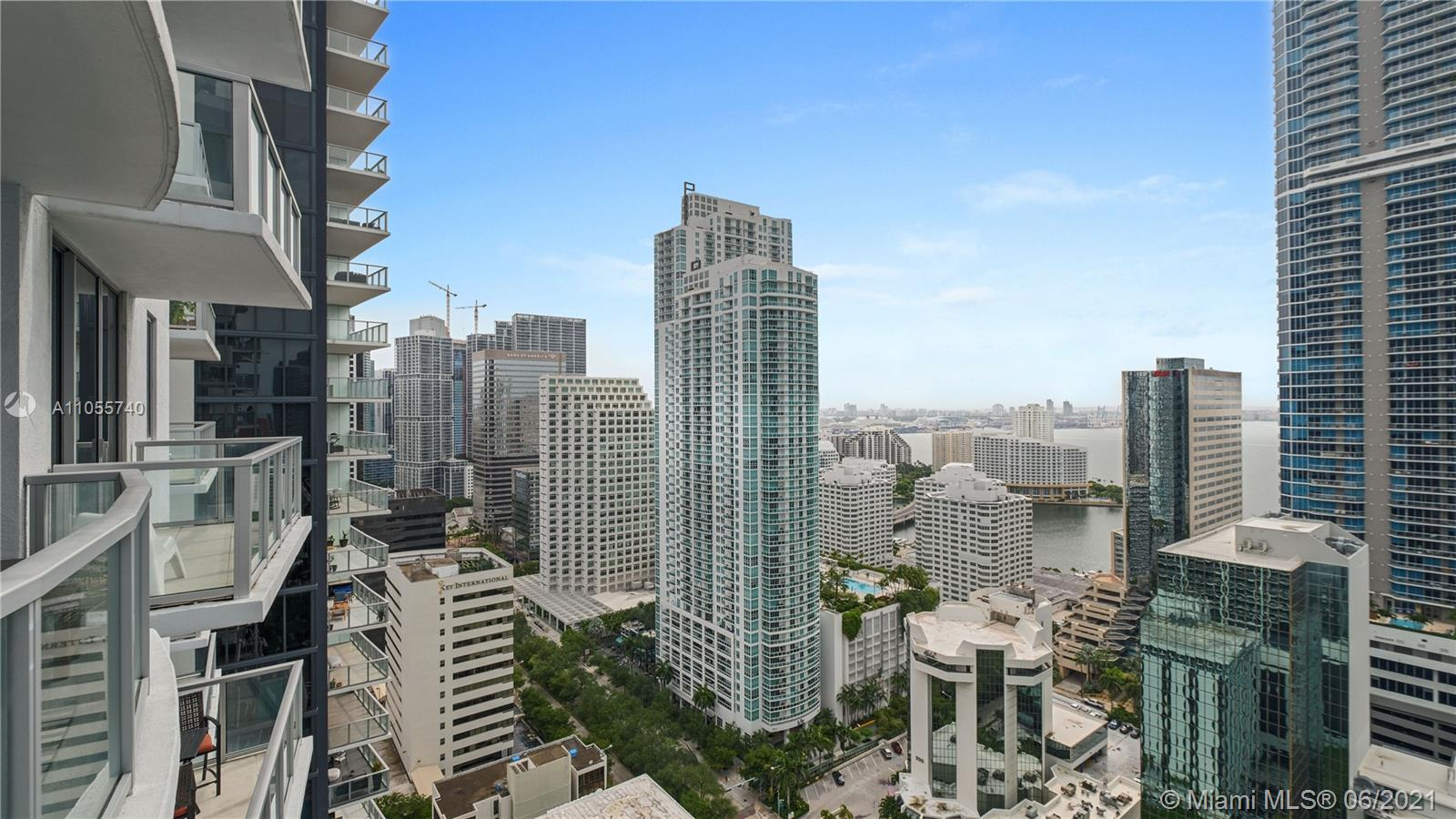 Location, Location, Location!  This condo is in the epicenter of Brickell - walking distance (steps) from shop, restaurants, and bars.  Great opportunity for someone looking to make Brickell home or investor looking for a property with a high rental demand.   Beautiful city and partial water views, assigned parking space, washer and dryer in unit, pool, concierge, gym, valet, etc.  Unit has beautiful large ceramic floors throughout, open kitchen living dining area, a must see.  This one won't last!