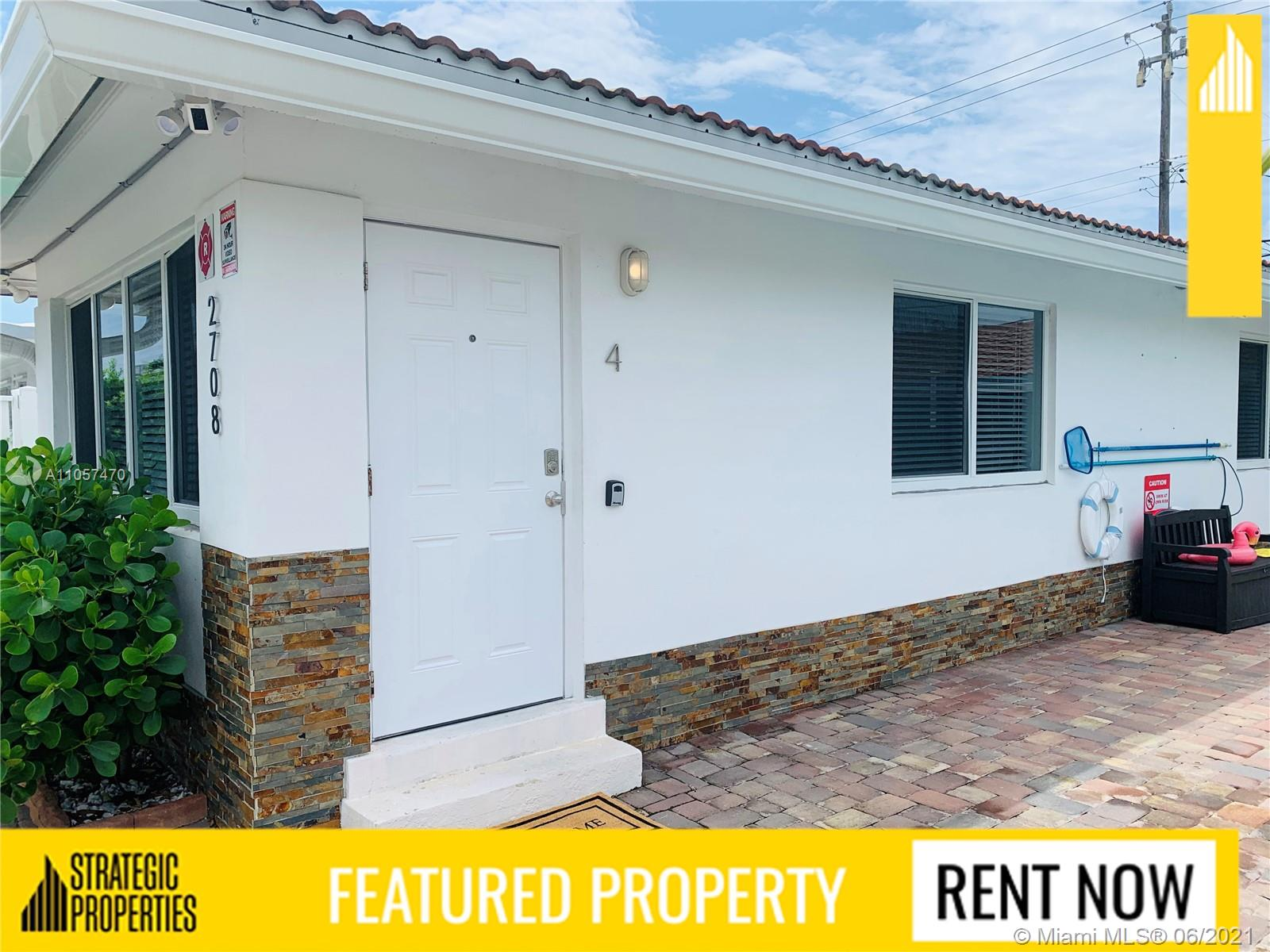Modern and trendy 1bed x 1bath apartment! - Corner unit - Lots of light - Tile floors - Washer and dryer in unit - Central A/C - White appliances (stove, microwave, refrigerator and dishwasher) - Two big closets - Assigned parking - Pool on building