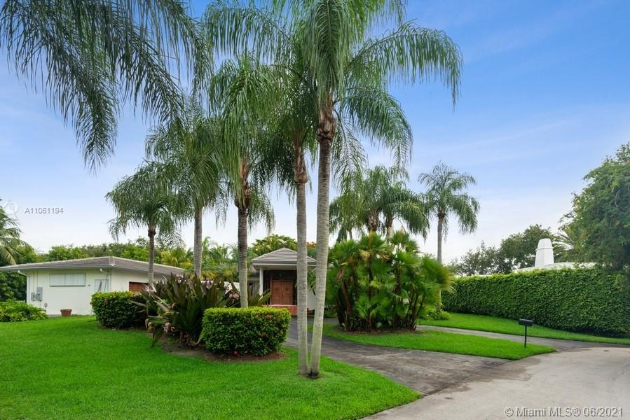 Beautiful, upgraded one story on a dead-end street in the best part of North Palmetto Bay! Private & quiet- Serene, pretty water & garden views as you enter- High ceilings- Impeccable Terra Cotta floors throughout- New roof 2020- 4 en-suite spacious bedrooms + a large flexible room for office or a fifth bedroom with plenty of custom built closets- Kitchen w/wood cabinets opens to family room- Lots of natural light- Large Master Suite- Beautiful pool/patio area overlooking lush landscaping- Private backyard for perfect outdoor entertainment with large covered patio, Gazebo with full bath, ideal for outside kitchen - Excellent school district with A+ schools - Excellent school district with A+ schools.