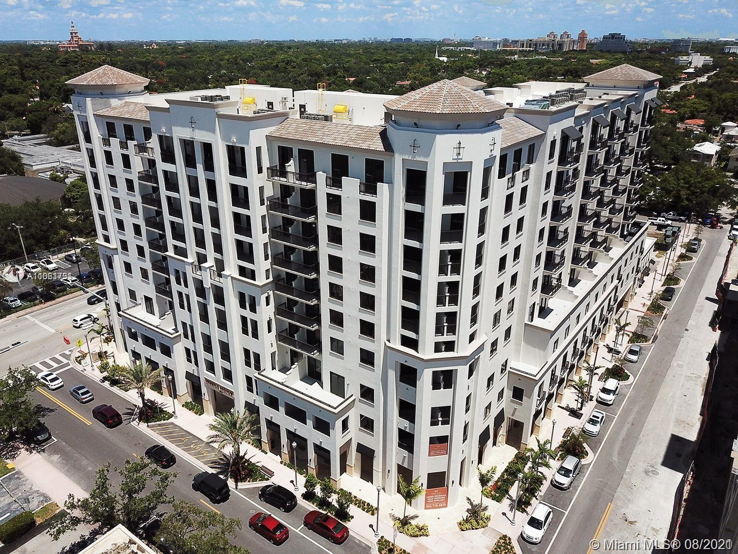 BRAND NEW three-bedroom developer unit with large enclosed terrace in Coral Gables' chic Shops of Merrick Park neighborhood! Residence features fine, contemporary finishes: Italkraft Cabinets and closets, quartz countertops, Bosh appliances, Nest Thermostat, keyless locks and high ceilings. Impeccable, resort-style amenities and services, saline-heated pool, summer kitchen, upscale fitness center, 24HR concierge and security, valet services and more. Pet-friendly building. One parking. Sales Gallery located on-site.