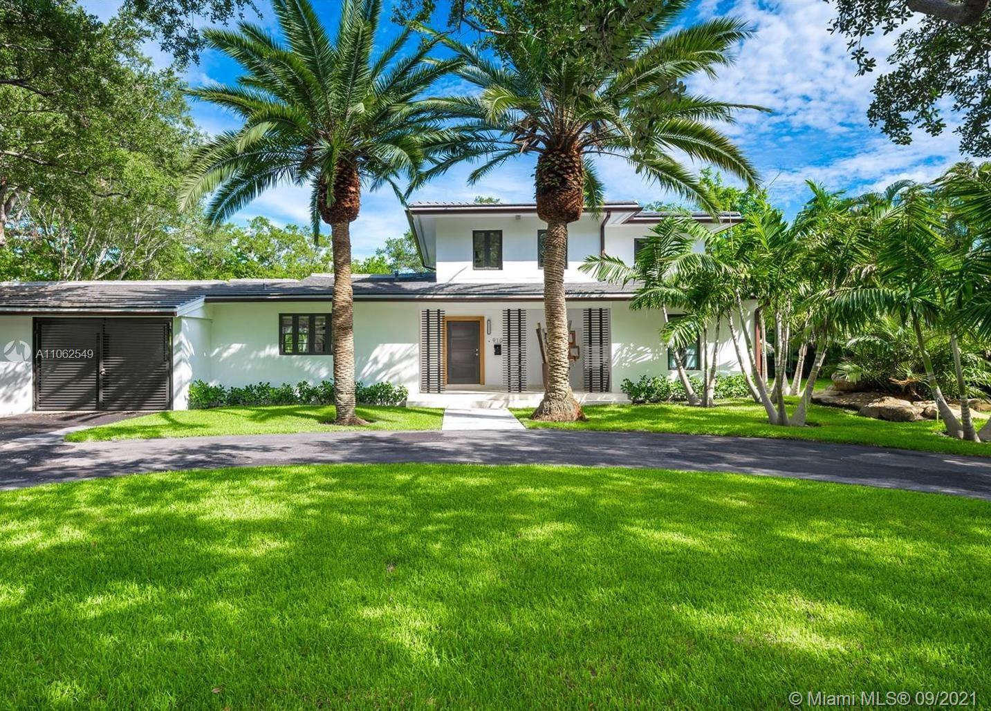 One of a kind opportunity to live in an unique, completely renovated to high standards home. Located in a quiet area of Coral Gables. Spacious two-story home on a 17,148 Sqft featuring 4 Bedrooms, 3.5 new Bathrooms with a large open floor plan, porcelain floors thought out the 1st floor, formal living & dining room, family room. Open  modern kitchen, Monogram professional  appliances,  new plumbing, new electrical, sound system, security cameras installed , 1 car garage. Large terrace and landscaping surrounding a beautiful pool area, tastefully designed for comfort, functionality, and entrainment. Home is close to shops, restaurants, parks, and great schools.