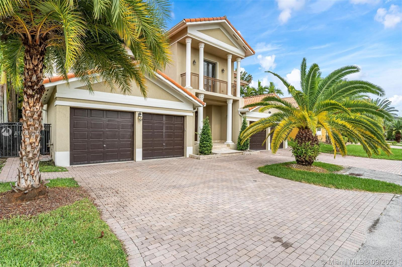 This beautiful two-story home is located in the gated community of Cutler Cay. This 5 bedroom, 5 bathroom home is calming and inviting. The home features high ceilings, a gourmet kitchen with stainless steel appliances and granite countertops, as well as a family room that opens up to the pool and patio. This home has a massive master bedroom and bath, including his and hers showers, dual sinks, bidet, and spacious walk-in closets. The amenities at Cutler Cay include a clubhouse, pool, gym, and sauna, as well as tennis and basketball courts. Don't miss out on this amazing property