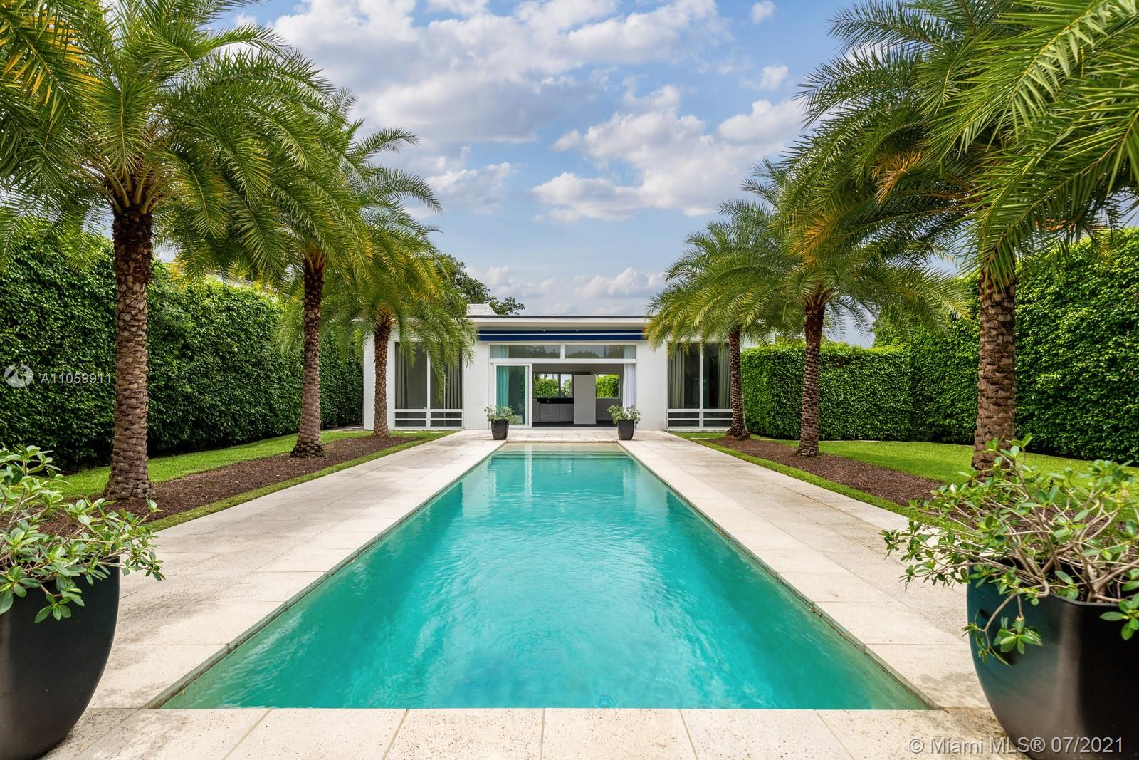 Igor Polevitzky's Heller House 1, a pure example of  what was to become Miami Modern .  Recently updated, this cozy loft style home maintains most of its MiMo details.  High ceilings, brick walls and expansive 13' windows open to a spacious back yard with a Tropical Setting complete with Royal Palms flanking a large 12 x 40 pool. Two spacious bedrooms each with an on suite bathroom, one car garage complete this Venetian Islands home. Located on N Venetian Dr on a 9,000 Square Feet Lot with plenty of room to add on or build your dream home with unobstructed bay views from your future second floor or rooftop terrace.