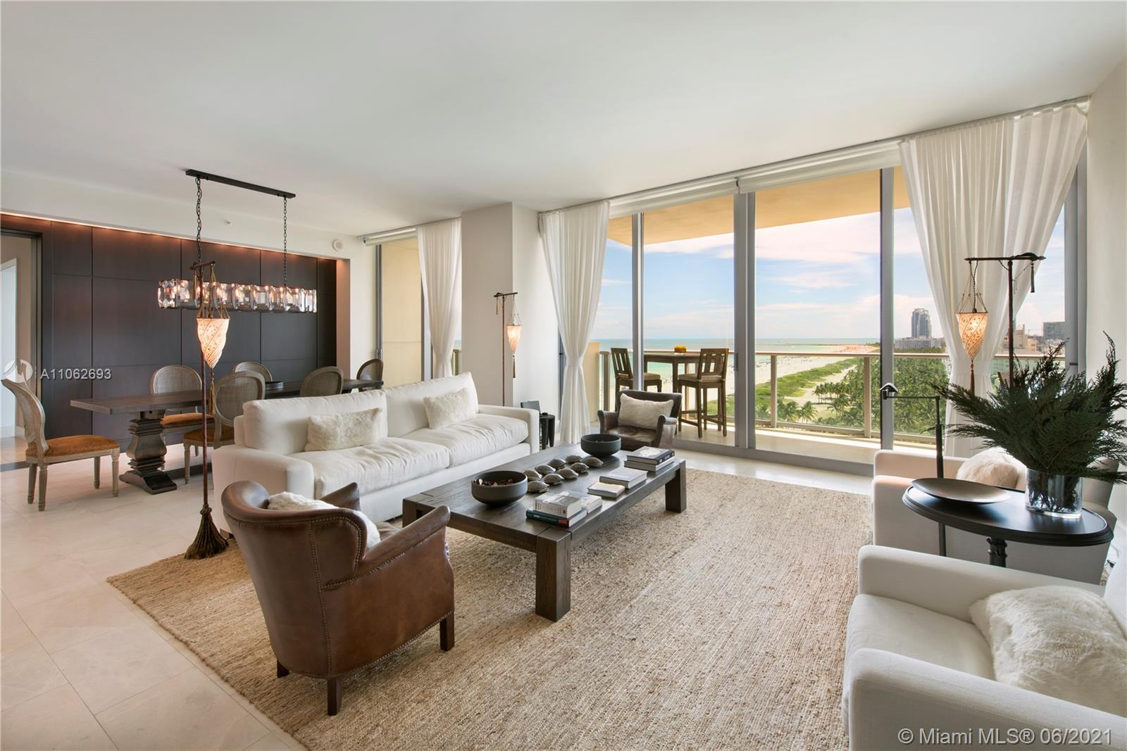 Exclusivity & grandeur calls at iconic Il Villaggio located in the Arts & Entertainment District on Ocean Drive. This combined floorplan is comprised of 4 bdrms + office, 4.5 baths & over 3,000 sf only available once before, this superior home offers a private elevator which ushers you the best views in SoBe.  Enjoy 6 terraces to overlook Lummus Park & Ocean Drive or stare out at the city lights of the Downtown Miami Skyline & the beauty of Atlantic Ocean. Other details include 10 ft. ceilings, open kitchen, wet bar & the ability of closing off part of the residence to create total privacy for the master bedroom suite from the guest bedrooms. The residence is equally perfect for quiet moments as it is for entertaining.  Il Villaggio defines full service luxury condominium living.