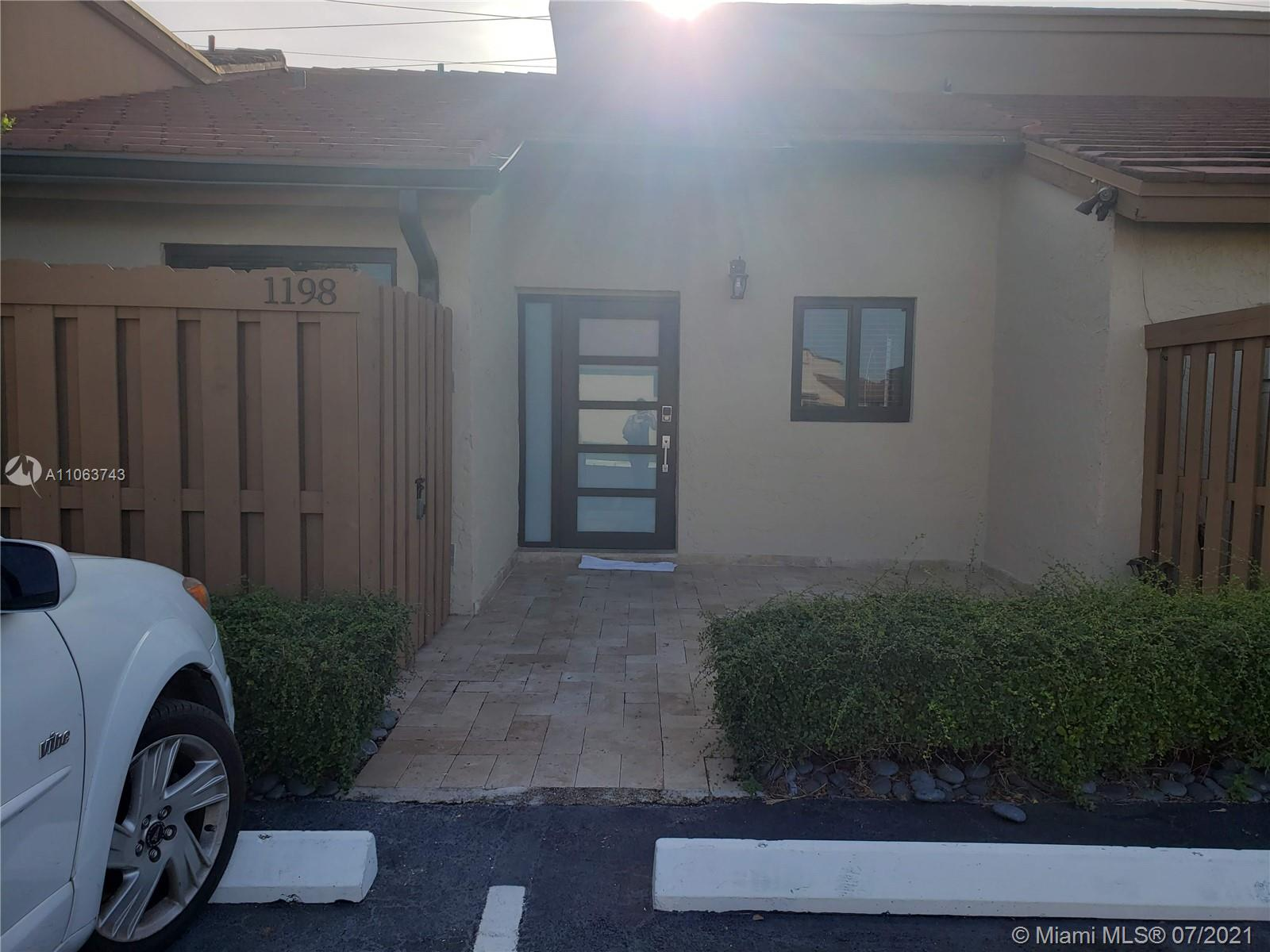 """Beautiful Townhouse in the Community of Tamiami lakes!!!  Townhouse has 2 Bedrooms, 2 Bathrooms, New Roof, New A/C, Impact Windows/Door, Washer & Dryer + Titan Water Heater!!!   Master Bedroom has its own bathroom and a large walk-in closet.   Complex offers security 24/7, Tennis Court, Playground, lots of green areas and gated doors.   LOW HOA FEES….Great for first time home buyers or investors.  """"Sold As Is"""".   ***SHOWINGS BY APPOINMENT ONLY  - Property is currently Tenant-Occupied and cannot be disturbed without prior notice***  Must have Preapproval Letter and D.U. Report or Proof of Funds prior to the showing.  Bring your Buyers!!! It will not last!!"""
