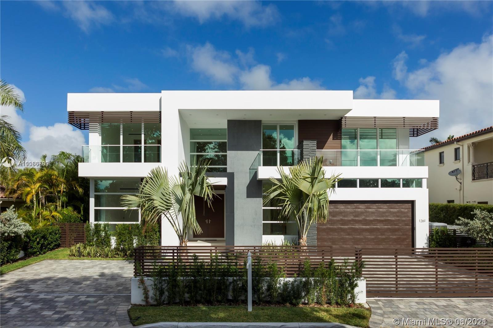 Rarely available 8 bedroom new construction ! Bay Harbour Gem ! This stunning 6200 SF Tropical Modern offers a combination of sleek Architecture & Bespoke finishes that will amaze the most discerning clientele. A thoughtfully Designed open layout perfect for lavish entertainment or family enjoyment, this fully integrated smart home features high ceilings, Crestron lighting, full home automation w/ security cameras, Snaidero Kitchen & Vanities, Electronic Window Treatments, Spacious Walk-in Closets w/ Custom Cabinetry, floating staircase etc... A tropical oasis steps from Bay Harbour shopping, top school and temples. Summer kitchen w/ grill, zero edge swimming pool w/ spa & covered loggia. Less than 900$/sqft for a fully customized new masterpiece ! Will not last !!