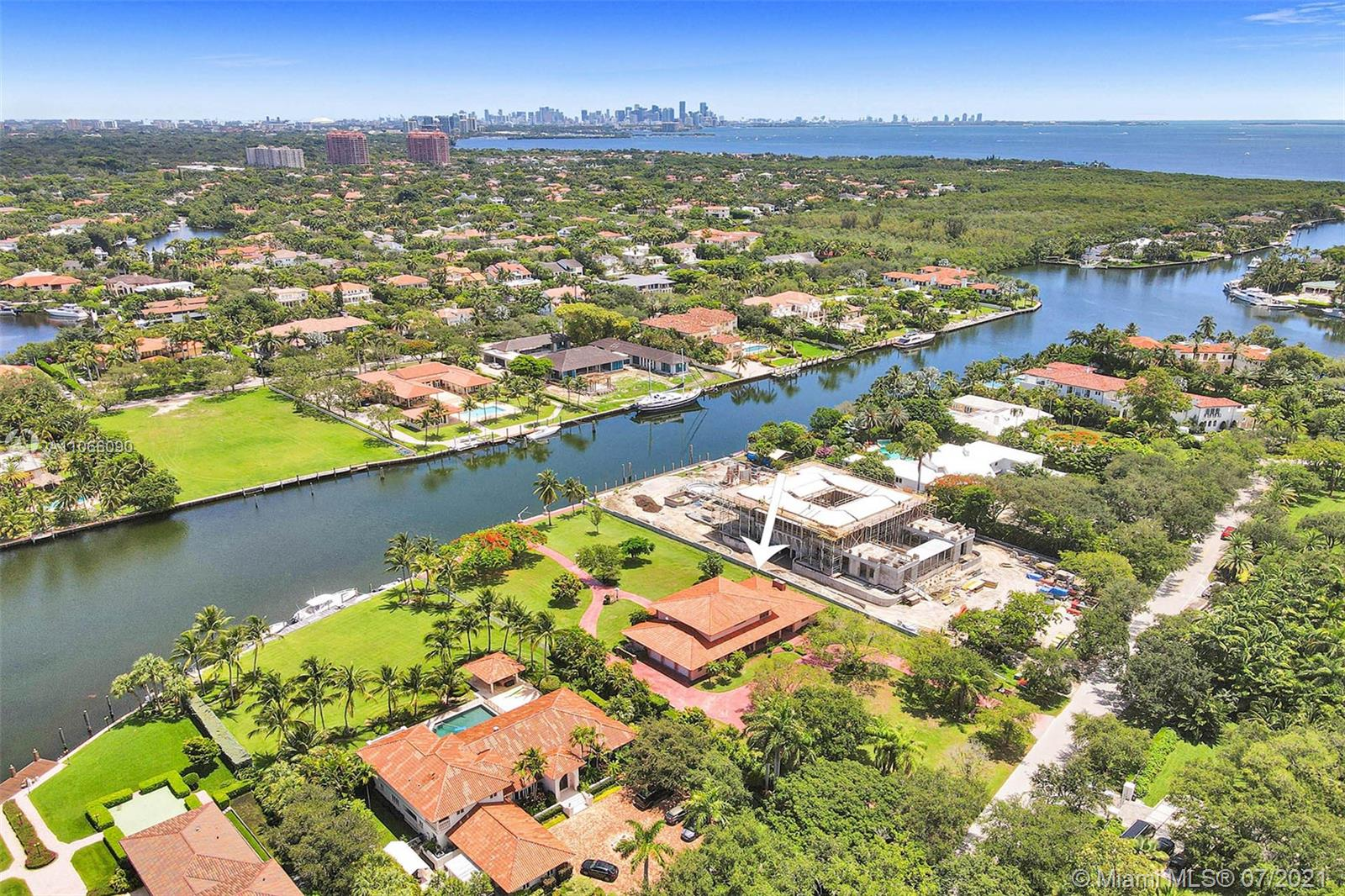 Prestigious Gable Estates Deepest Water Yacht Basin!  This gorgeous 1.38 acre estate is prime property in one of the most coveted locations in the area! Upon entering the lushly landscaped grounds of the Gable Estates community you will be entranced with this gorgeous DIRECT OCEAN access community! One of the few DEEP WATER access areas that can accommodate large yachts & sailboats. This property is boasting over 160ft of seawall on one of the deepest canals and largest yacht basins in the community with Biscayne Bay & the Atlantic Ocean less than 3 minutes away. Wake up every morning in paradise with gorgeous views of the water, gorgeous million dollar homes & amazing yachts. Rarely available opportunity in this prestigious area. Remodel or tear down and build your own private paradise!