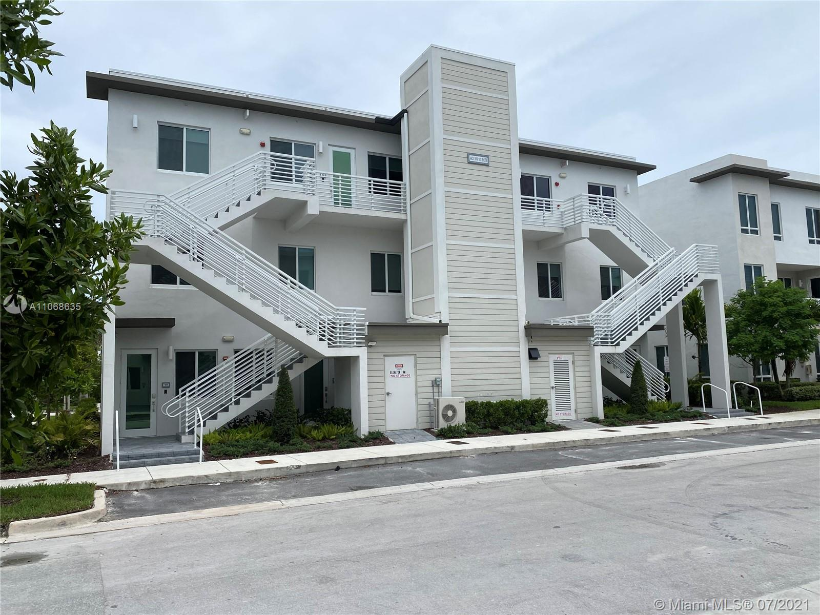 THIS BEAUTIFUL AND GREAT 2 STORY MODEL  CONDOMINIUM LOCATED IN DORAL. 3 BED & 2 BATH. THIS CONDO FEATURES A GREAT ROOM THAT OPENS UP TO AN AMAZING KITCHEN THAT TAKES CONTEMPORARY TO A WHOLE NEW LEVEL. THE KITCHEN INCLUDES STAINLESS STEEL APPLIANCES, BUILT-IN WALL MICROWAVE AND OVEN. A DELUXE UNDER THE COUNTER WINE COOLER, WHITE QUARTZ COUNTERTOPS, THE MASTER SUITE INCLUDES WALK IN CLOSET AND A MASTER BATH DUAL FLOATING SINKS, VANITY AND GLASS ENCLOSED SHOWER. CERAMIC TILES