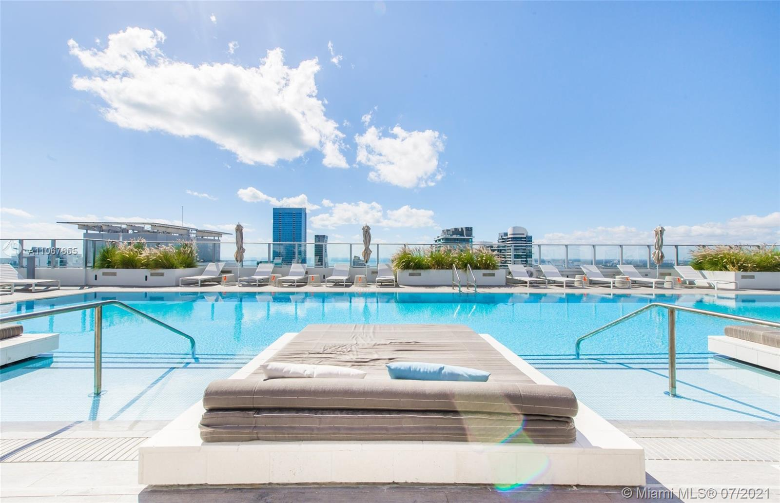 Spectacular upgraded unit at the iconic 1010 Brickell Condo. Professionally FURNISHED apartment, 1 bed, 2 baths, plus enclosed Den, high ceilings, huge balcony with stunning views, top of the line Smeg appliances! Building offers: outdoor movie theatre, restaurant & swimming pool @ 50th floor roof top; Co-ed Hammam spa w cold & hot Jacuzzi, massage & treatments rooms, sauna & steam room; basketball & racquetball courts, running track, indoor heated swimming pool, fitness center, party room w kitchen, open terrace & barbeque, kids room w bowling, virtual golf, among others. Excellent location next to public transportation, Brickell City Centre, & more. Available from August 01, 2021 until December 31, 2021.