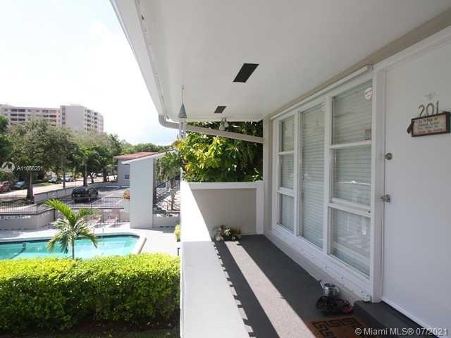 Enjoy living in the heart of Edgewater Drive in Coral Gables, located between Coconut Grove and Cocoplum. This serene, 2ND FLOOR CORNER UNIT gem has 1 bed/1 bath with wood flooring. The kitchen is equipped with stainless appliances and granite countertops. The bedroom has wall to wall closet. Renovated pool, common laundry facility with updated machines. The unit comes with Hurricane Shutters and a private attic for extra storage. Walk, jog or bicycle on paths throughout Coconut Grove all the way to Matheson or the Beaches. Minutes to parks, marinas, and the lifestyle the Grove and the Gables have to offer. Assigned owners parking and free street parking. A superb location in a tranquil setting!