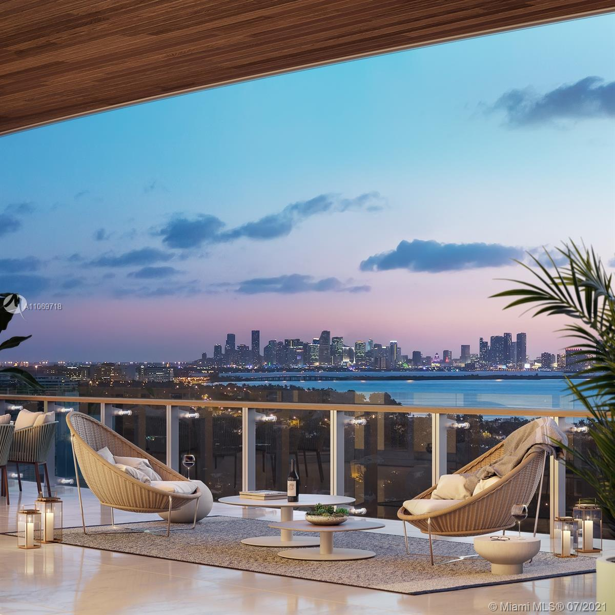 On the sand of Millionaire's Row - Miami's most beautiful and exclusive strip of beachfront sits 57 Ocean. Residences feature floor-to-ceiling windows. 12 Ft deep terraces, open floor plans, private elevators and foyer. Top of the line poliform kitchen and bathrooms.. SubZero and Wolf appliances. 57 Ocean will provide the residents a connection with nature. From the indoor and outdoor gym, My Equilibria and Technogym training equipment, Meditation Gardens and Zen library, Chef kitchen, outdoor grill area and Ocean front bar; Residence 1005 views of the intracoastal offers the most stunning sunsets to inspire ever day living. DELIVERY FALL 2021