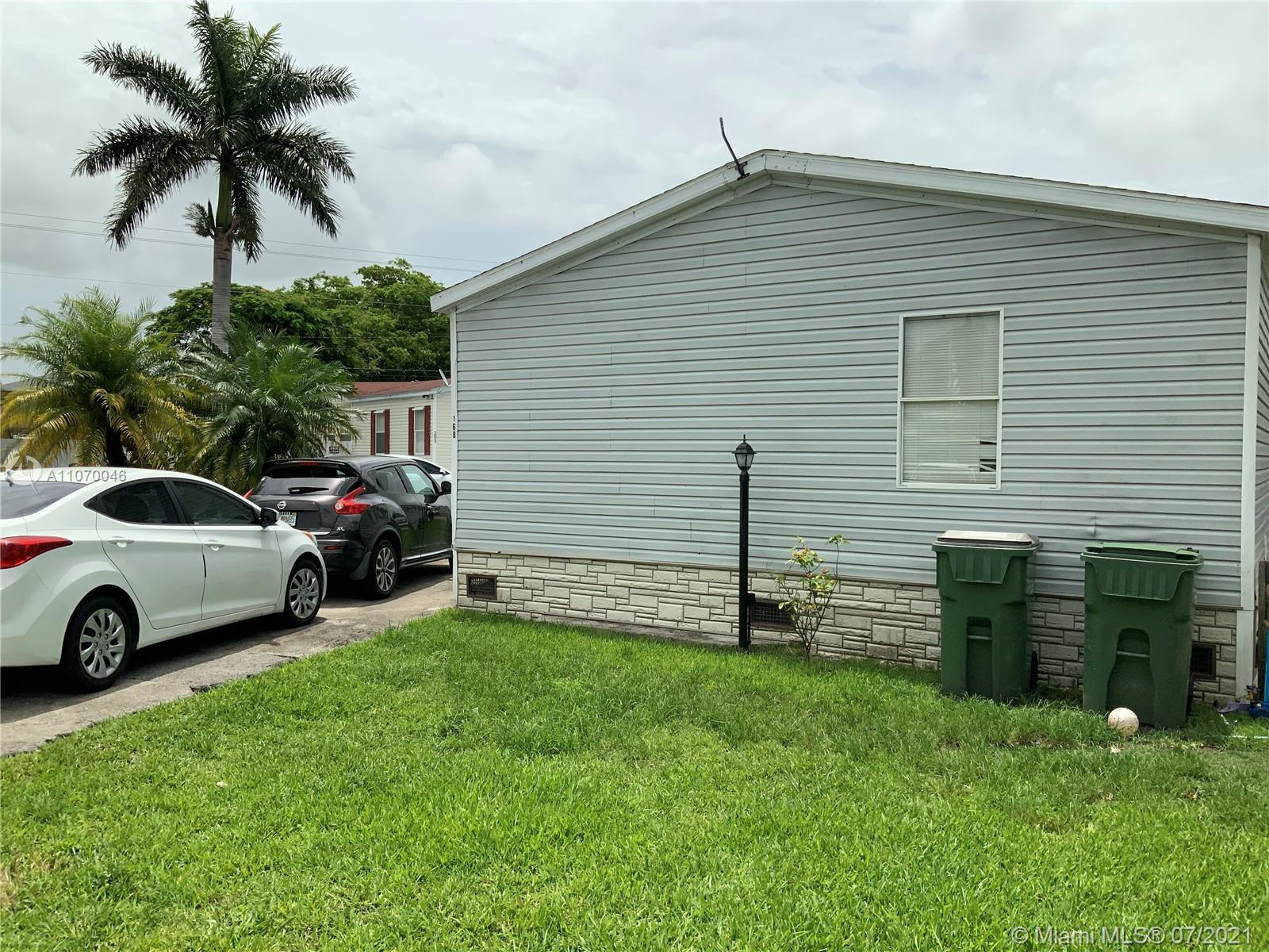 Another Great Opportunity to own your Single Family Mobile home with the land included. Need TLC and cleaning Inside Bring your offers...Lot 168