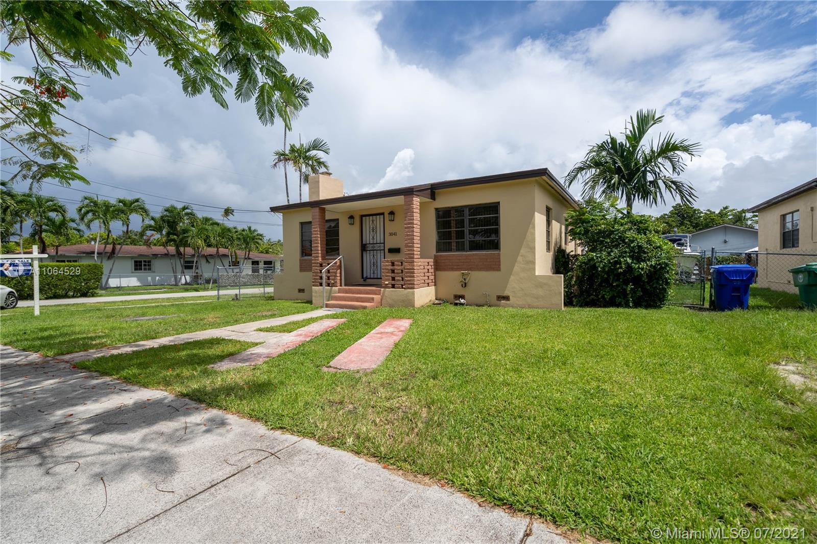 Great starter home for family that rather not deal with an association. Cozy 2/1 corner house with a nice size backyard to have family BBQ or fit a boat. Extremely convenient for any boat owner, only 5 mins away from the marina. Located in a quiet neighborhood but still remarkably close to all the entertainment like Downtown, Brickell, Coconut Grove, and the Beach. Can also be an investors dream! Two properties right next to each other both in T3 zone with many 2 story duplexes that are being built in the neighborhood the other property address is 3031 SW 27 AVE. Prime location for air bnb.