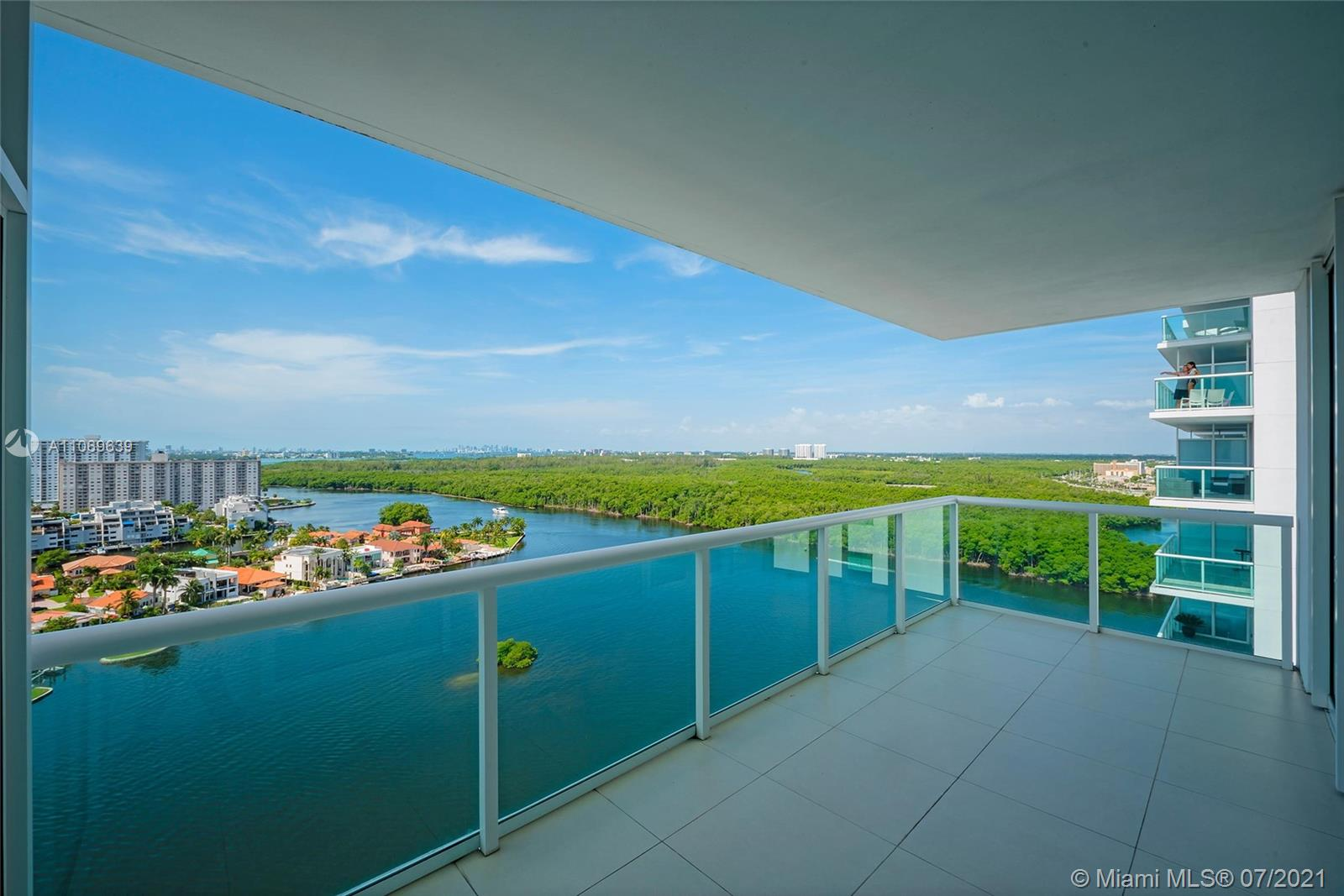 Perfectly located at just steps from the beach, this building is a portrayal of luxury and moreover this unit at the 19th floor reflects the vibrant and modern vibes of Sunny Isles with unbeatable views of the Intracoastal Bay and the Ocean. It has panoramic views all over the apartment with some floor to ceiling windows that offer a unique expecience. It has modern large format-white stone floors, open concept kitchen with top of line appliances and custom cabinetry, custom closets and blinds. The building offers a broad spectrum of amenities which include Spa, Fitness Center, Tennis Court, Panoramic Pool, Entertainment Room, and a Private Marina. Ready to move in!