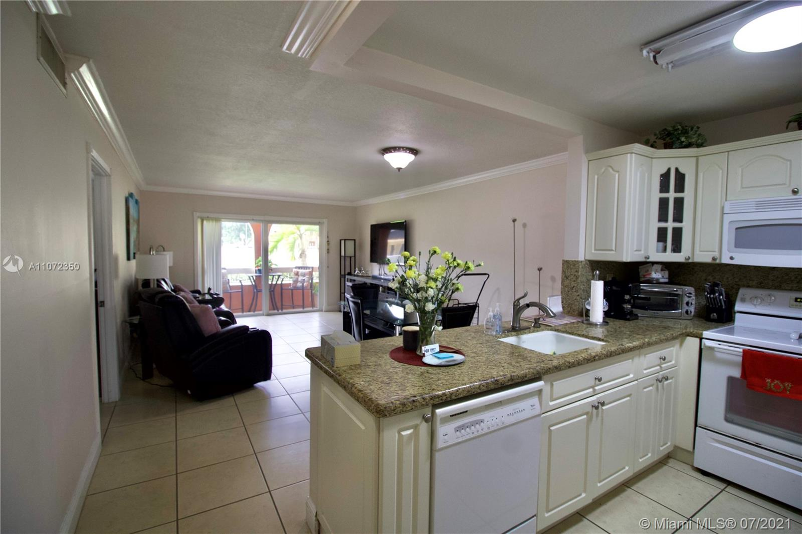 Tenant moves out end of September. Ground floor unit with interior garden community area and a patio with view of the pool. Immediately off the Palmetto expressway, near to US 1, next to Dadeland Mall, Downtown Dadeland with great restaurants, bars and shopping. Unit is extremely well taken care of and clean. IMPACT WINDOWS & SHUTTERS, lots of natural light, storage space and open kitchen. Community is meticulously maintained, with multiple pools (including an adults only pool) and tons of amenities. ASSOCIATION HAS RESERVES