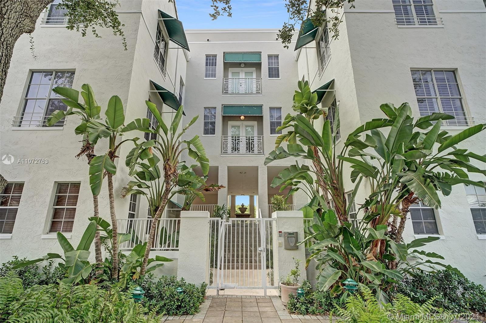 Spacious Tri-Level Condo/Townhouse in Downtown South Miami. Features 1 Car Garage and 1 Full Bedroom/Bathroom on Lower Level. 2nd Floor features remodeled Kitchen and open floorplan Dining/Living Room & a Half Bathroom. 3rd Floor features a massive Master Bedroom with high ceilings, Master Bathroom with shower, separate tub, and double vanity. Real Hardwood Floors throughout. FANTASTIC LOCATION! Walking distance from Winn-Dixie and nearby shops/restaurants. Short Walk to Metrorail. Close to University of Miami.
