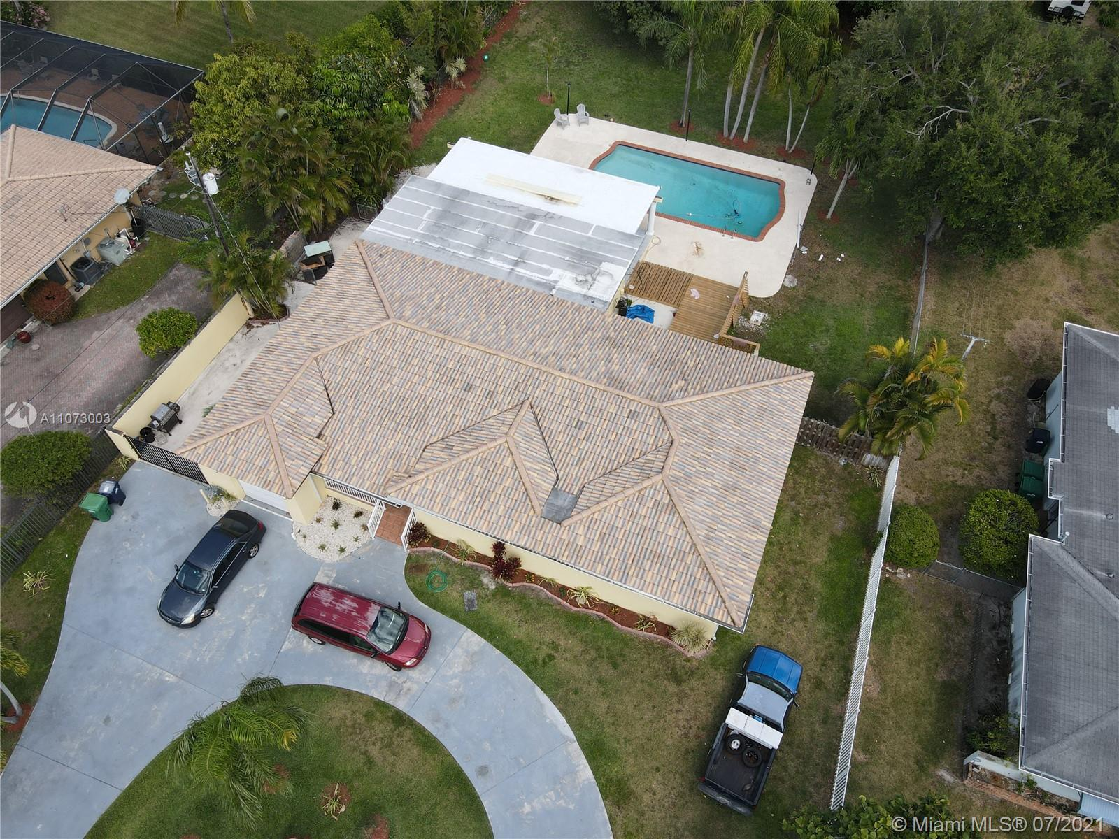 """Great home with an oversized pool, the home has a one-car garage, impact windows, French doors and a very large Master bedroom.  The home has a new roof, new AC and a natural gas stove.  the home also features a new wood deck and was freshly painted.   The subject property is centrally located along the east side of SW 72 Avenue in Miami. This home is located on a large 22,216 SF lot just west of the Ludlum Trail and just north of Dadeland Mall. The home features three bedrooms and three bathrooms with a one car garage.  This area is rapidly changing with several new $1M dollar projects underway.  Great Family residence live """"As Is"""" ,Remodel/Update or redevelop the site. Many options."""