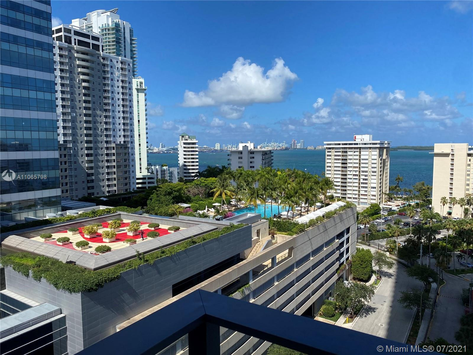 """UNIQUE OPPORTUNITY AT ECHO BRICKELL. Luxury corner 2/2.5 unit located in Brickell. 3 PARKING SPOTS, 1 STORAGE, CALIFORNIA CLOSETS, CUSTOMIZE ELECTRIC BLACKOUT BLINDS, KITCHEN ISLAND. Complementary Bikes, Dog Walking and limousine service """"5 radio miles"""" away. Views of the BAYS and Miami´s famous sky line from dusk till dawn from exclusive expansive terraces, inside you will find marble through, 10'' high with floor to ceiling windows. SAVANT System, controls audio, lighting, wall treatments & valet parking. Kitchen has Italian glass cabinetry, marble countertops & top-of-the-line Wolf & Bosch Sub Zero appliances, built-in coffee machine. Art gym, infinity edge pool and hot tub Jacuzzi. The HOA include: Cable 200 channels, water, internet 1GB, Concierge 24 hour."""