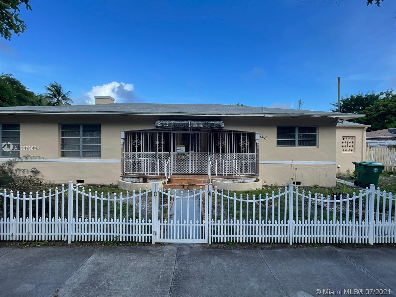"""Opportunity to own a corner lot 3bed/2bath + office in one of the most desirable area's in Miami The Brickell Roads and walk to Brickell. Purchase is """"AS IS"""", Price to sell."""