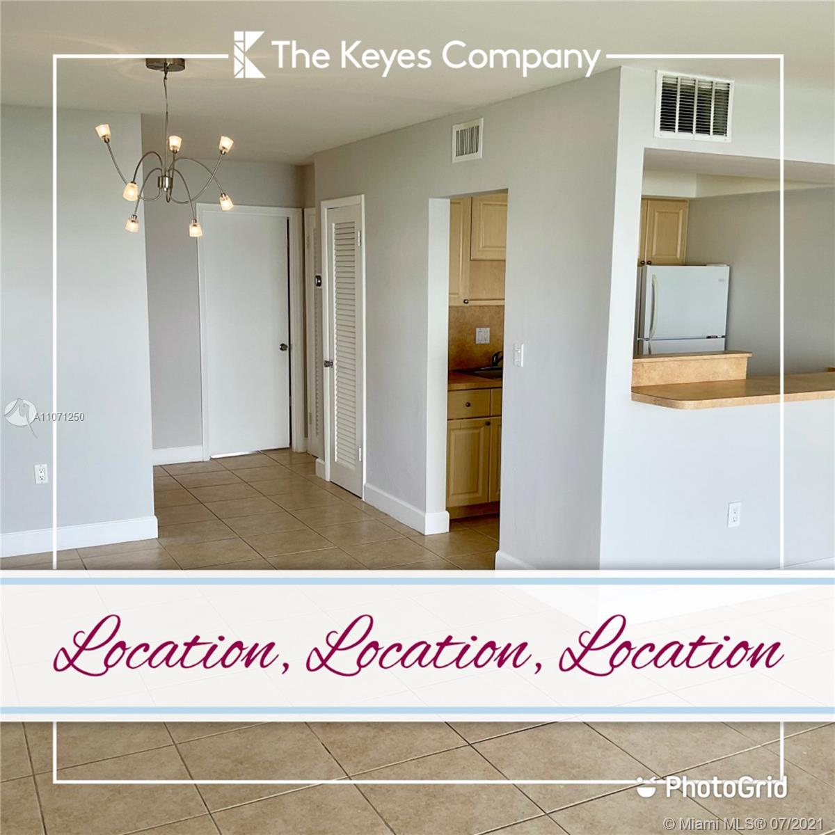 It's all about LOCATION! Conveniently located at walking distance from Dadeland Mall, fine dining, entertainment, etc.. Excellent Corner Unit with plenty of natural light. This unit is fresh and clean and ready to live or lease. This first floor unit is easily accessible from the assigned parking located in front of the unit. What I Love about this unit is its open kitchen, which connects the living room in a modern way. Other units are enclosed, cutting off communication and enjoyment. This property has accordion shutters to protect you from whatever this and any other hurricane season brings. The special assessment has officially been PAID OFF, and you will get all the benefits of the improvements which will only continue to add value to your home. Property is easy to show. Call Today!