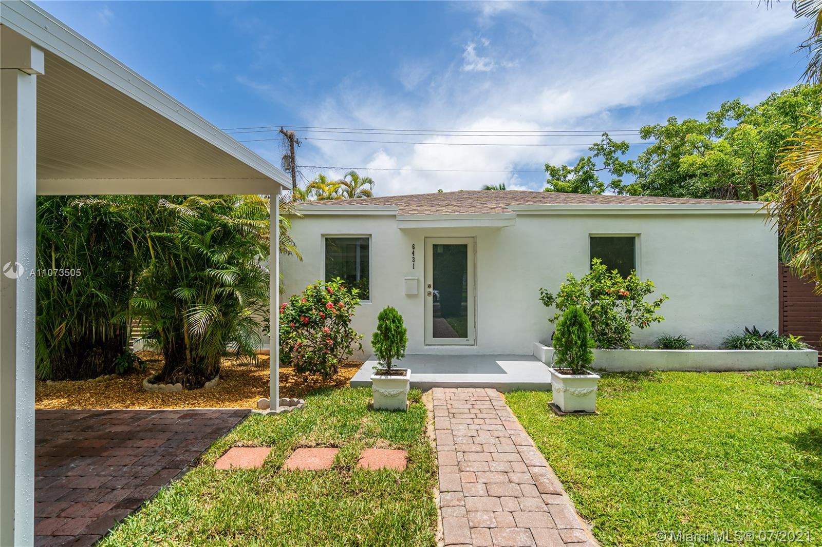 Tastefully updated home with a modern theme in the heart of South Miami. This bright sunlit home features 4 beds, 2 baths, with an open living/dining area, a renovated kitchen with quartz countertops, and Frigidaire Gallery SS appliances. Brand new light fixtures, porcelain tile floors and updated bathrooms. Home also features impact windows and doors, a brand new roof, new Samsung washer & dryer, fresh exterior & interior paint, and a large side yard for boat or RV with a new fence. Minutes from great schools including Sunset Elementary, Ponce Middle, and Coral Gables High. University of Miami is 5 minutes away, South Miami Hospital 10 minutes away. Close to Whole Foods, major highways, banks, parks, and restaurants. Minutes from the Shops at Sunset Place. All work done with permits.