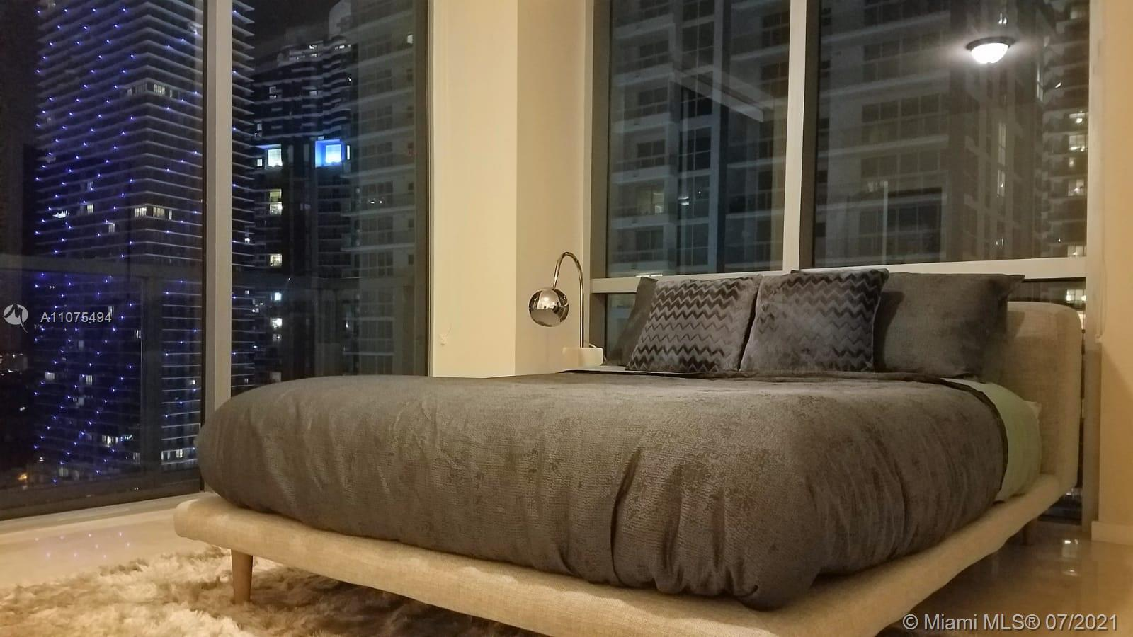 Amazing Corner unit 2 bedrooms and 2 bathrooms in the heart of Brickell. One assigned parking space. for Showings Instructions Please text listing agent.