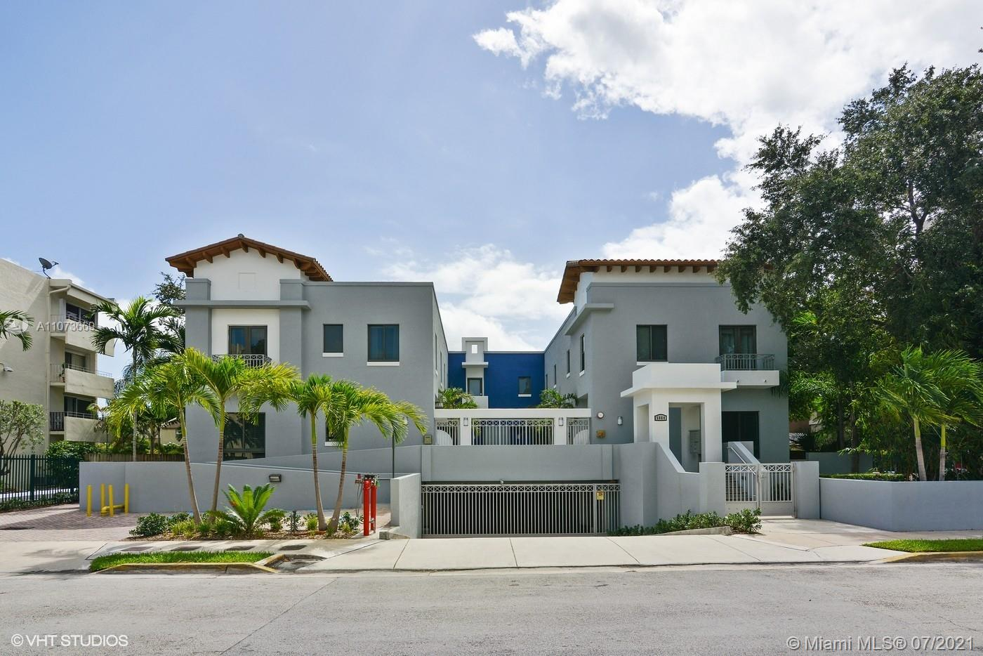 Stunning townhome in the heart of South Miami.  This townhome is unique because it has a two car garage with interior stairs into the unit.  The 2 bedroom/2.5 bath home is in move in conditions.  Steps to all the restaurants and shops in the area.  If you are looking for excellent schools look no more this is it.