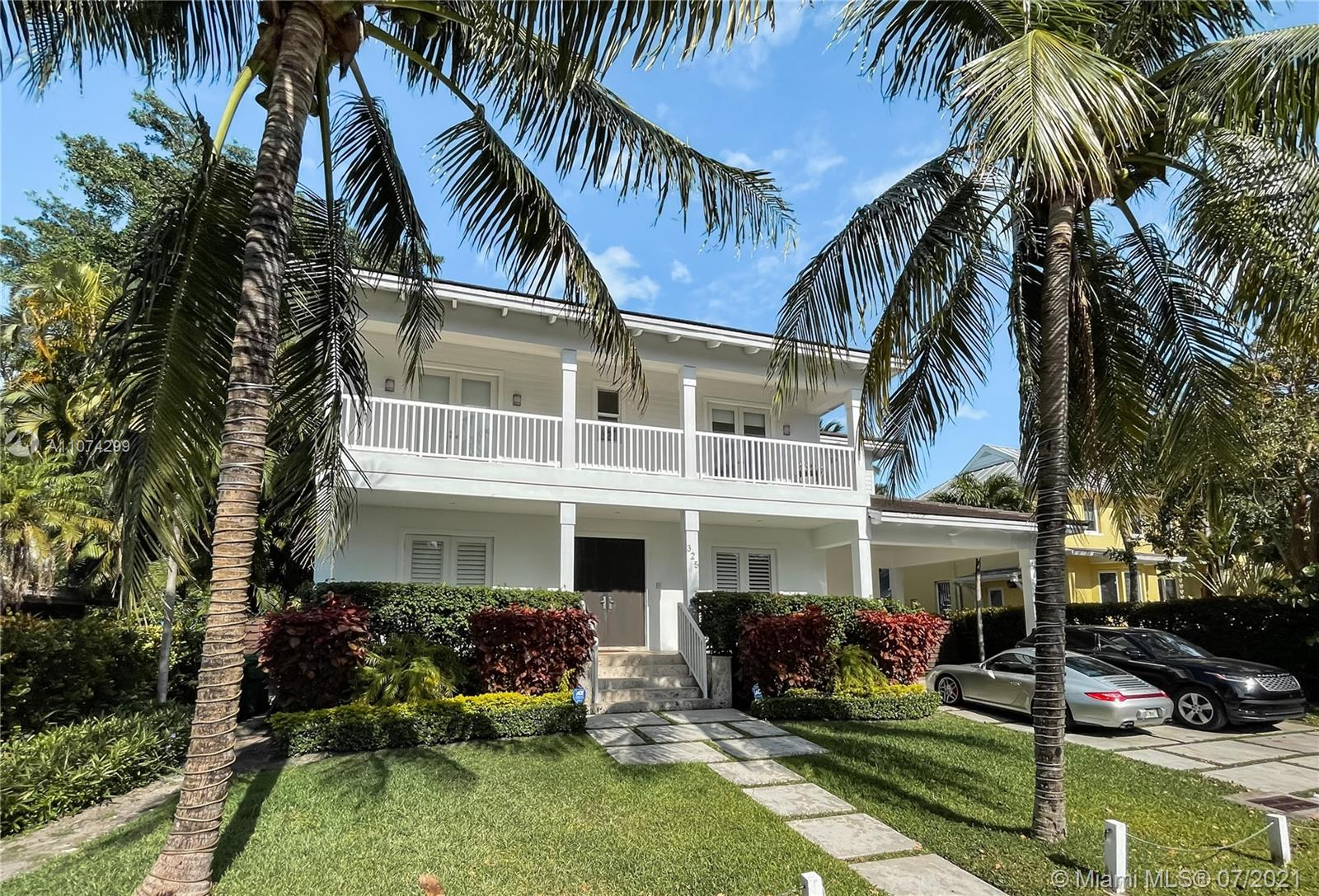 Located in the north side of Key Biscayne, this Key West Style home offers a laid-back and practical floor plan with exceptional craftsmanship focused on quality of life just minutes away from the Key Biscayne park and the beach. The 2-story home was built in 2012 and features 6-bedrooms and 6.5-bathrooms under 3,868 SF of living space plus 2 oversized covered terraces overlooking the backyard in a 7,606 SF lot. On the first floor a big open floor-plan integrating the dining, living and family room, the first bedroom with ensuite bathroom and service quarters. Upstairs, 4 bedrooms with ensuite bathrooms all with access to private terraces. The grounds are as thoughtful as the interior including and oversized heated pool and a jacuzzi covered by lush landscape for extra privacy.