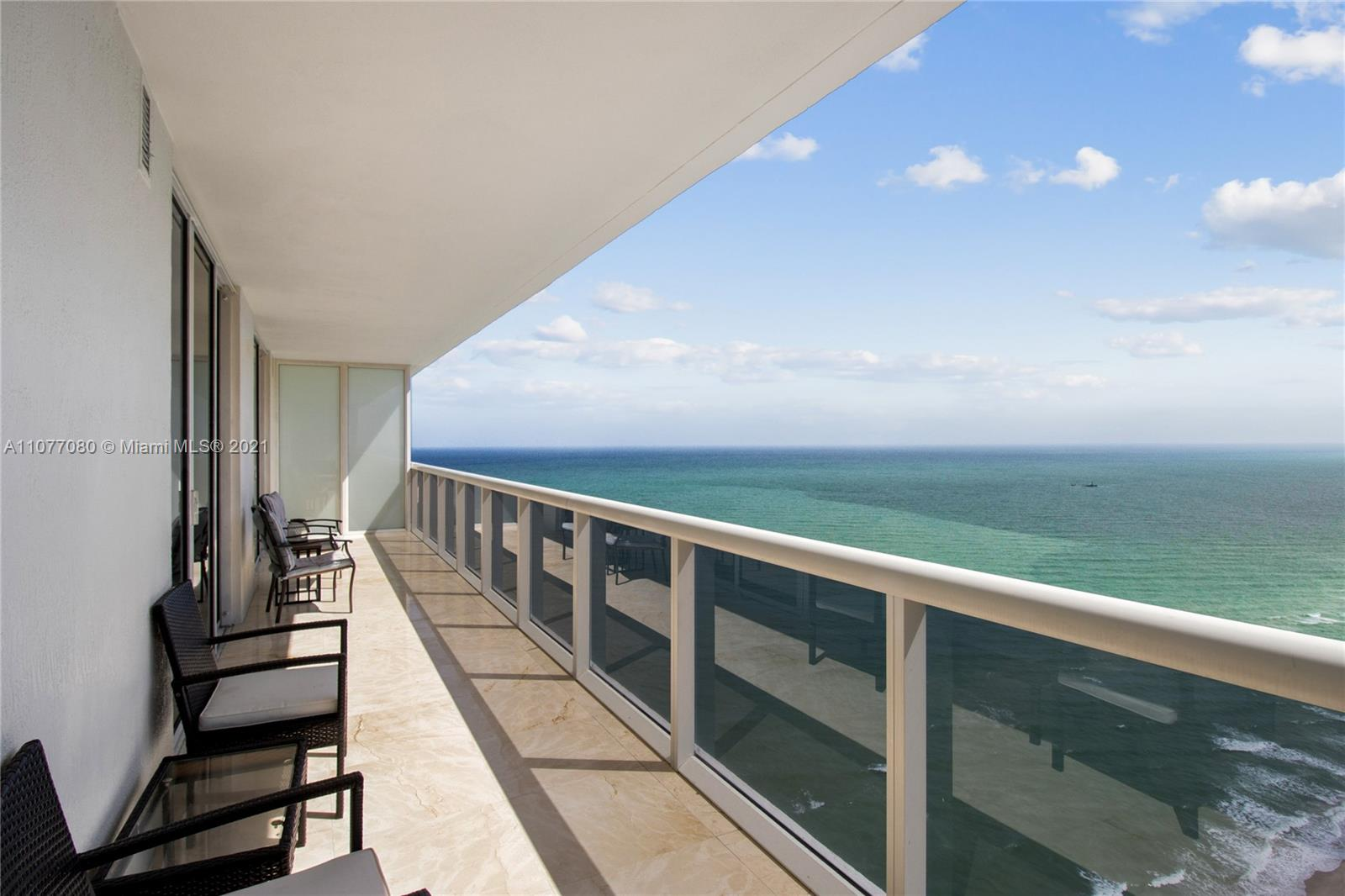 Breathtaking unobstructed Ocean, Intracoastal and city views from the 43rd floor. This amazing 3 beds 3 full baths unit with South East exposure features spacious and bright bedrooms, bathroom with separate shower and jacuzzi in master suite, marble floors throughout, built-in closets, granite counter tops and top of the line appliances. Impressive 50,000 sqft spa and fitness center overlooking the Atlantic Ocean, heated pools, Jacuzzi, sauna, beach service, poolside bar and 24hr concierge service and valet. Centrally located between Miami and Fort Lauderdale, The Beach Club is the most prestige building in Broward. Minutes to restaurants, shopping and Gulfstream Race Park and Casino. The unit can be rented 12 times per year.
