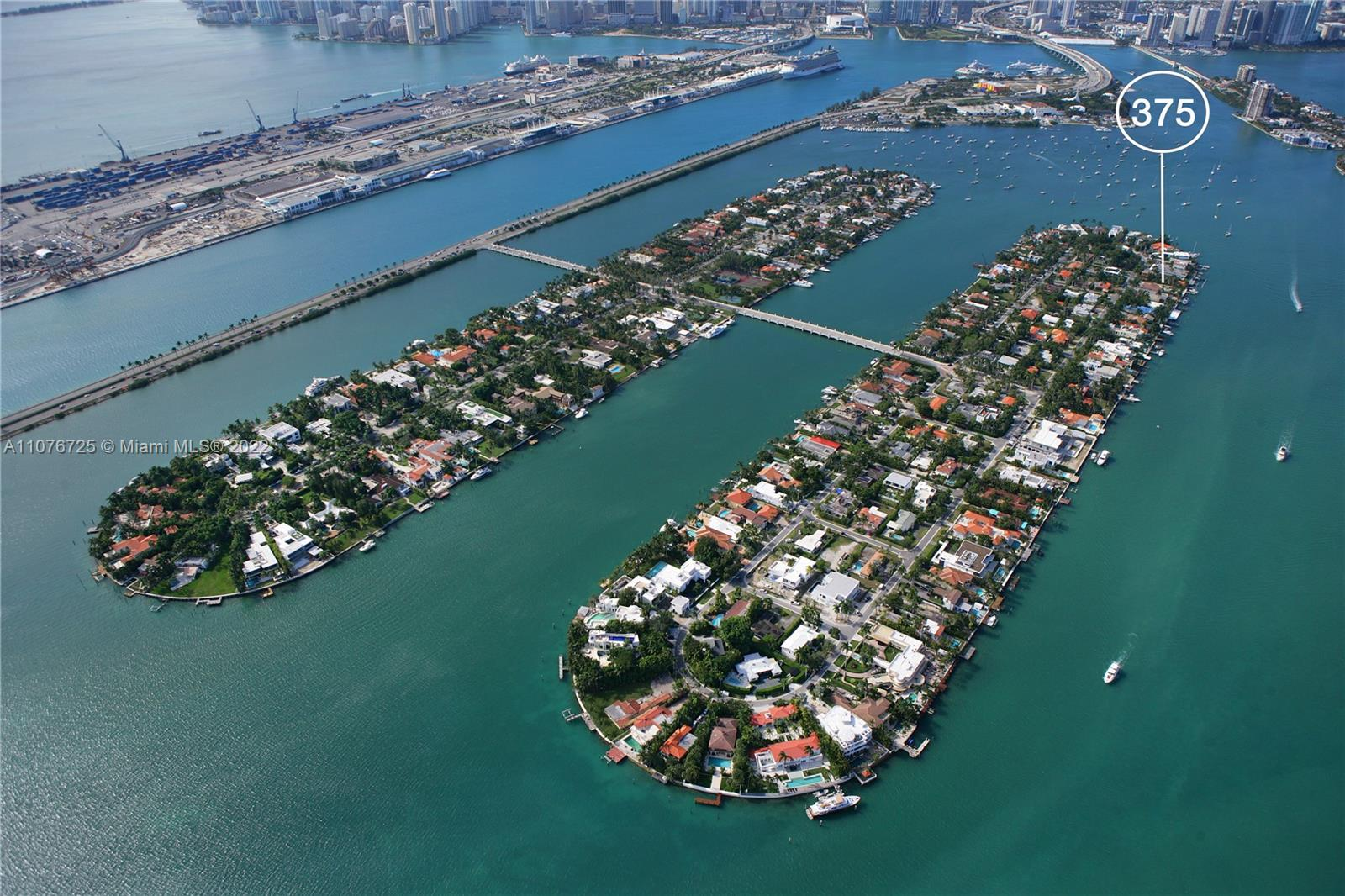 Ultra-luxury waterfront on Hibiscus Island offering serene views of the bay and Edgewater skyline, developed in collaboration by Artefacto Miami & Todd M. Glaser with modern architecture by Kobi Karp and interior designed + staging by Artefacto Miami! To maximize use of the deep 175-foot lot, the home will have a main house sited by the 90-FT waterfrontage & a guesthouse with 3-car garage on the front, connected with a courtyard!  Inside the 7,869-SF, 8-Bed 9.5-bath home, exceptional living areas overflowed with water views, gourmet kitchen, master suite suited for royalty, superior finishes, deluxe baths, high ceilings. Outside, pool, cabana, summer kitchen, new elevated seawall and a large dock for docking multiple boats. A secluded paradise in the heart of Miami Beach. Completion 2022!
