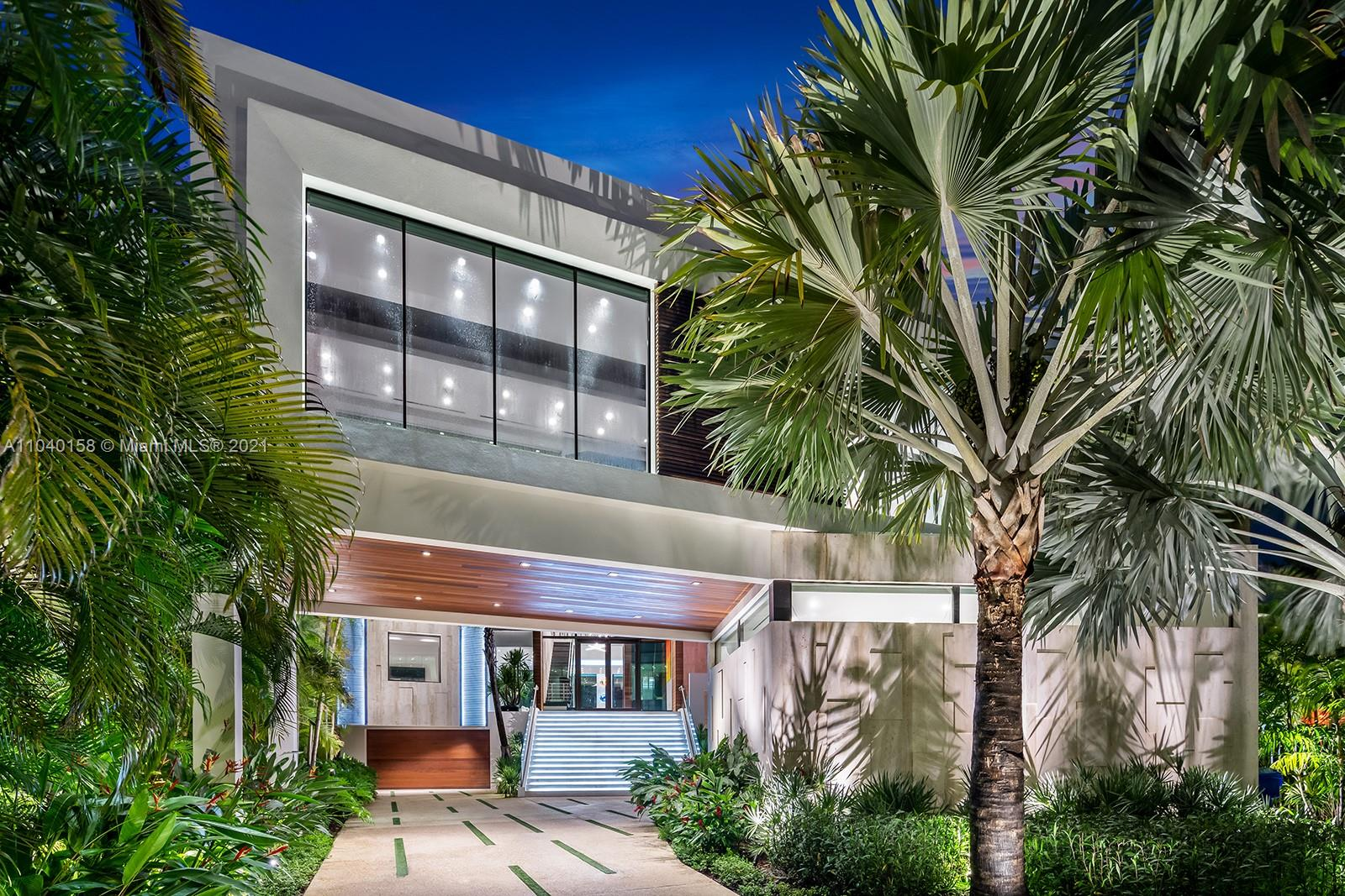 Professionally Designed Contemporary 3-story home w/stunning Bay views & over 100' of linear waterfront.  Located on Belle Meade Island, with 24/7 security. New construction (12,200 Total A/C SF) w/custom ultra-luxury finishes-no expense & attention to detail has been spared. Floor to ceiling windows, 35 KM solar system+6 Tesla power walls. Italian kitchen by Veneta Cucine, Seven A/C units, Travertine exterior walls, beautiful glass elevator, custom lighting & sound system throughout. Art Gallery and oversized Office/Library. Large covered Patio & Summer Kitchen w/water views.  50 FT infinity edge pool, solar generator, deep water large Dock & Boat lift. Unique 12 car Garage on the ground floor. Real Sellers. Centrally located & minutes to Design District, Miami Beach & downtown Miami.