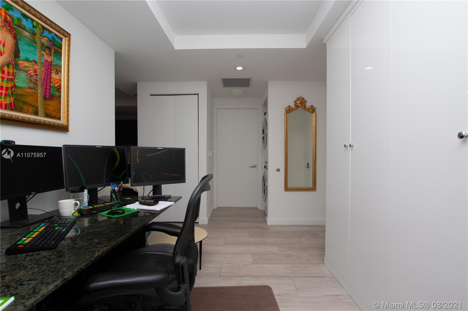 Den with built-in Closet