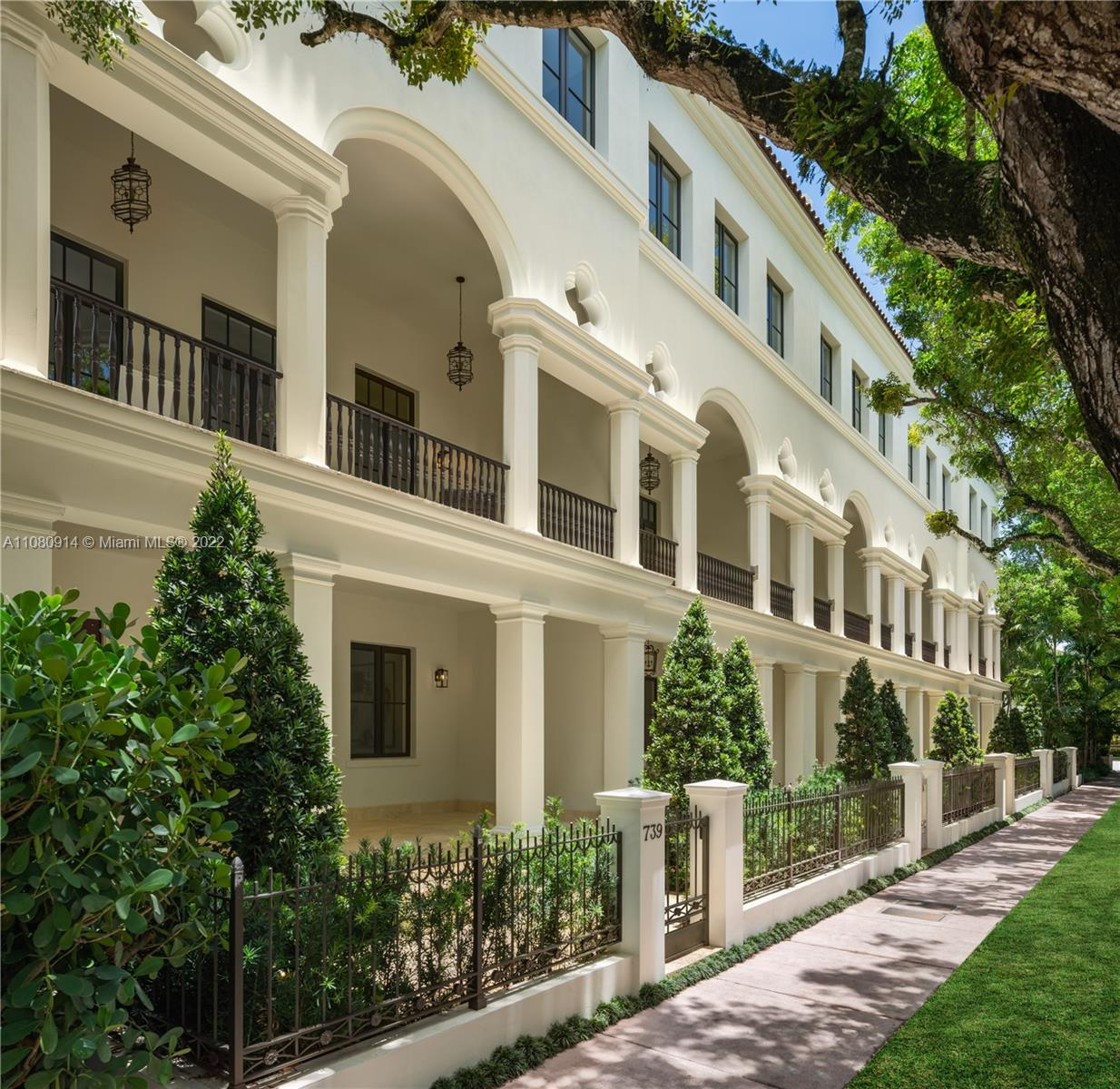 Althea Row's collection of five, three-story Spanish-Colonial style town homes are a timeless example of Coral Gables' architectural legacy. Residents can experience 7,000 total square feet of spacious open floor plans, private front gardens, interior patios and stunning loggias that honor South Florida's modern contemporary lifestyle. Steps from iconic landmarks including Miracle Mile and the Biltmore Hotel, Althea Row is the quintessential sanctuary, combining sophistication and elegance.