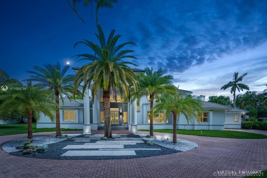 Nestled in one of the largest lots that Pinecrest has to offer, this Modern Mediterranean occupies an impressive 1.35acres of land. The 7000 ft floorplan is ideal for a large family. It includes a master suite that occupies the entire second floor & features huge his-and-hers walk-in closets, a gas fireplace, a 26'x13' Spa bath, a library/den, and a large balcony that overlooks the entire property. Under major renovations for the past year, this home comes with the absolute latest in luxury upgrades and designer touches such as 5'x3' imported porcelain, a state-of-the-art kitchen w/ a reverse osmosis water filtration system, Lioher cabinetry, Miele appliances, Bioethanol linear fireplace,  and 4000 ft of new CoolDeck Pool deck for years of entertaining. Mins to the best schools in Miami