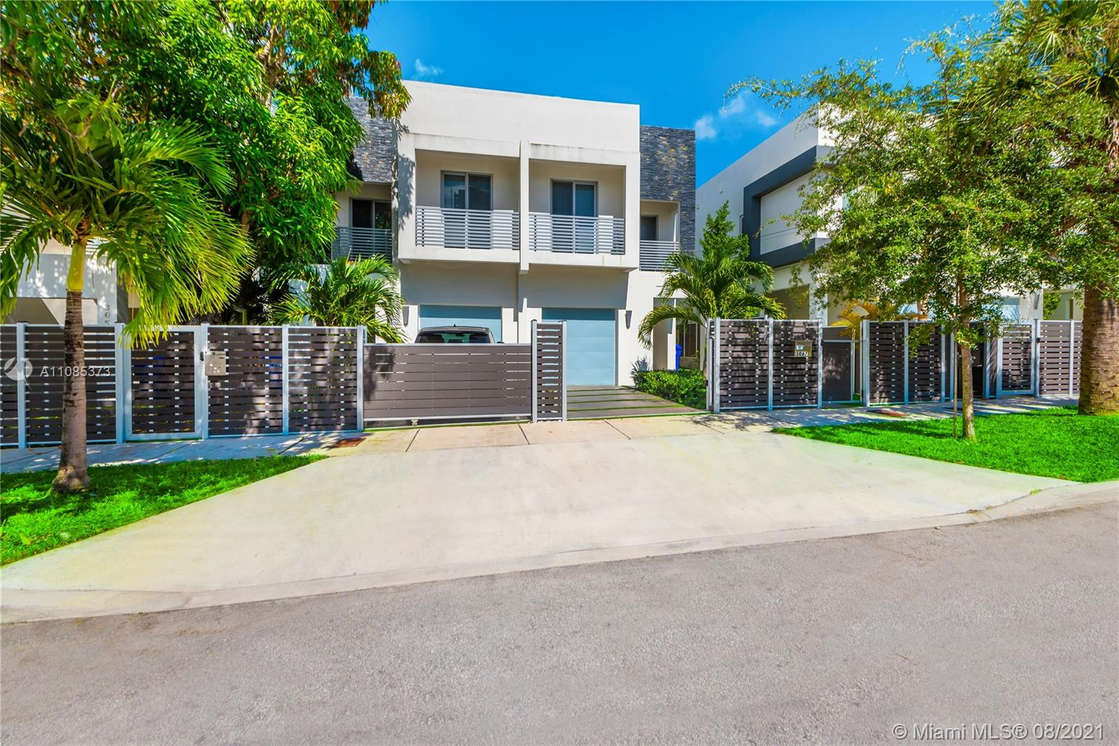 Immaculate newer construction townhome in Coconut Grove! This 3 bedroom, 2.5 bath home is available fully furnished and equipped. Featuring porcelain tile throughout, designer kitchen with built in wine cooler/ bar, one car garage with epoxy flooring, impact windows and doors and an extra large master walk-in closet. This residence is set up with exterior cameras, RING doorbell, and is fully gated and fenced in. Enjoy the Miami lifestyle with your own private pool with waterfall feature, BBQ and plenty of fashionable seating. Easy to maintain yard with astroturf. Close to downtown Coconut Grove restaurants and shops, marina, parks, dog park. Close to Coral Gables, Brickell, Downtown, University of Miami and more.