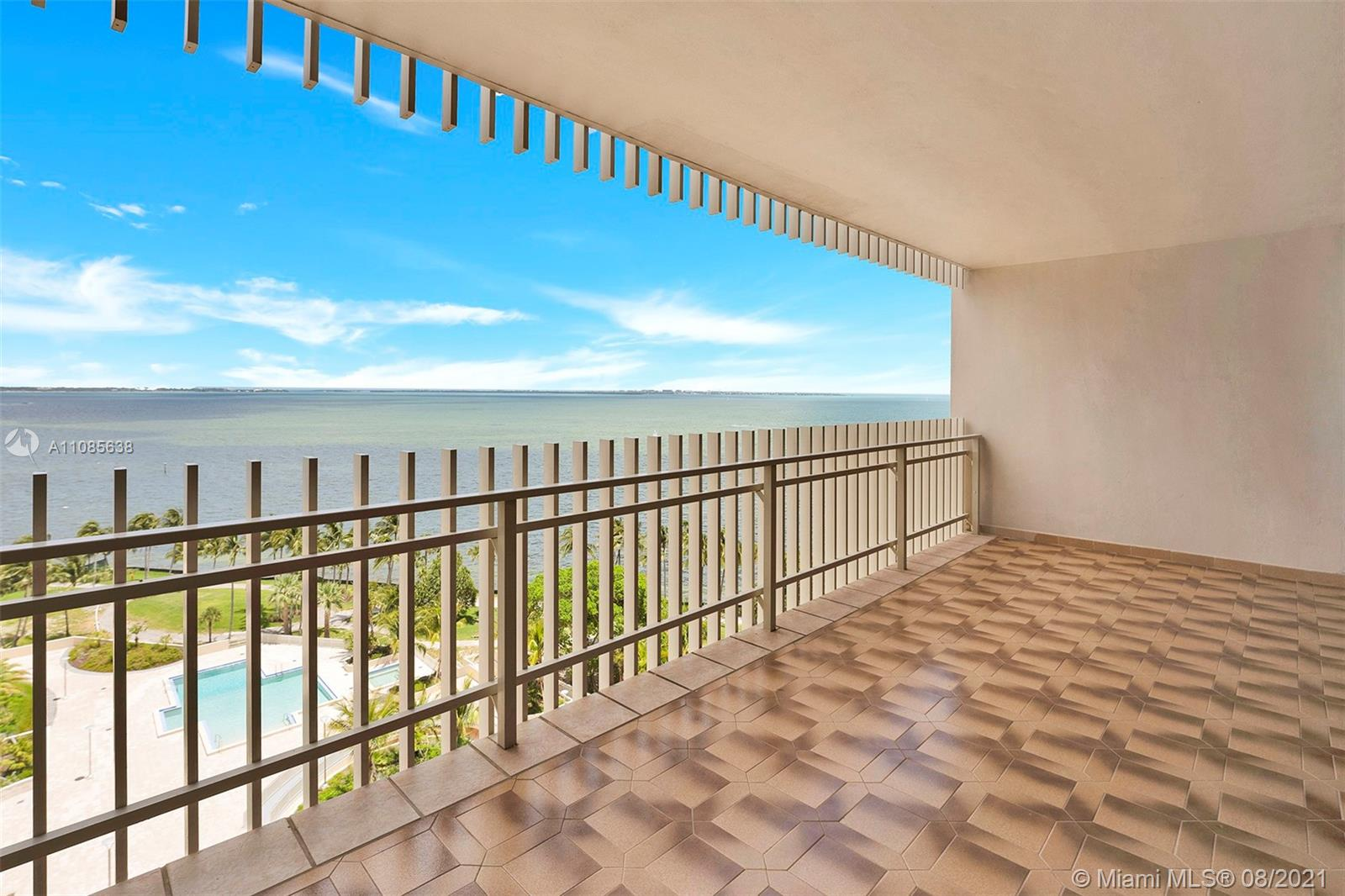 Remarkable views from this 2 bed/ 2 bath condo in the exclusive island at Grove Isle.  Rented as-is with valet parking, one assigned parking.  Currently only amenity available is gym, pool soon to come.  All other amenities under renovations.  Please allow 24 hours for showing.