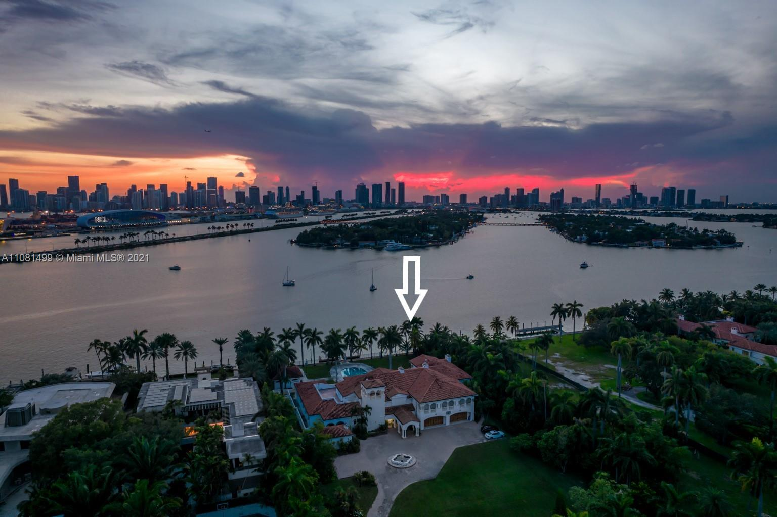 Featuring nearly 2 acres of land on Miami Beach's Star Island. Uninterrupted views of a gargantuan private dock, Port of Miami and the Magic City's skyline. Over 20,000 square feet of grandeur including an elevator plus a commercial generator. Star Island is the jewel of Miami Beach on Biscayne Bay, a conceptual idea, the mastermind of Miami developer Carl Fisher. A small, guarded island divided by a lovely park road that is lined with soaring palm trees and magnificent estates surrounds the island's perimeter. Each estate a story book entrance. Just a few minutes' drive from Miami's Financial District and Downtown, South Beach, and Miami International Airport. You can also enjoy a water commute from your yacht launched from a private dock overlooking Miami's marvelous skyline.
