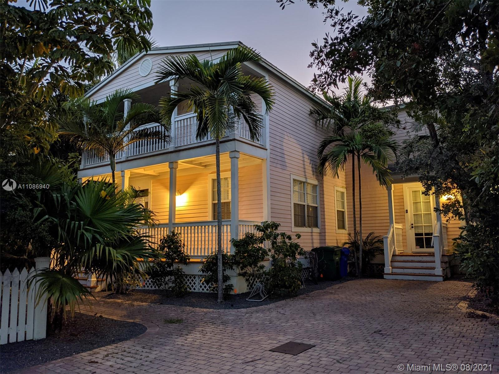 Welcome to Key West... this is the ultimate experience.  Beautiful pink house on quiet cul-de-sac with lovely pool and multiple decks for views. Spacious kitchen and living room that looks up to paradise.  One office/bedroom and full bath downstairs and 3 bedrooms and 2 bathrooms upstairs, large master bedroom/bathroom. Ernest Heminway would have wrote in and came out with a master piece.  Do not miss the chance to rewrite history.  Walking distance from shopping, restaurants and attractions.