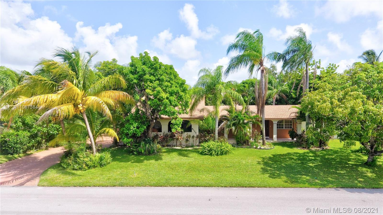 Don't miss this 4/3 house in the family-oriented neighborhood of Palmetto Bay, located close to great schools & parks. Spacious home perfect for a growing family looking for a blank canvas to make their own. Large kitchen with granite countertops. New roof (4,200 Sq Ft) and AC in 2019. This home also boasts a wide array of Caribbean exotic and organic fruit trees.