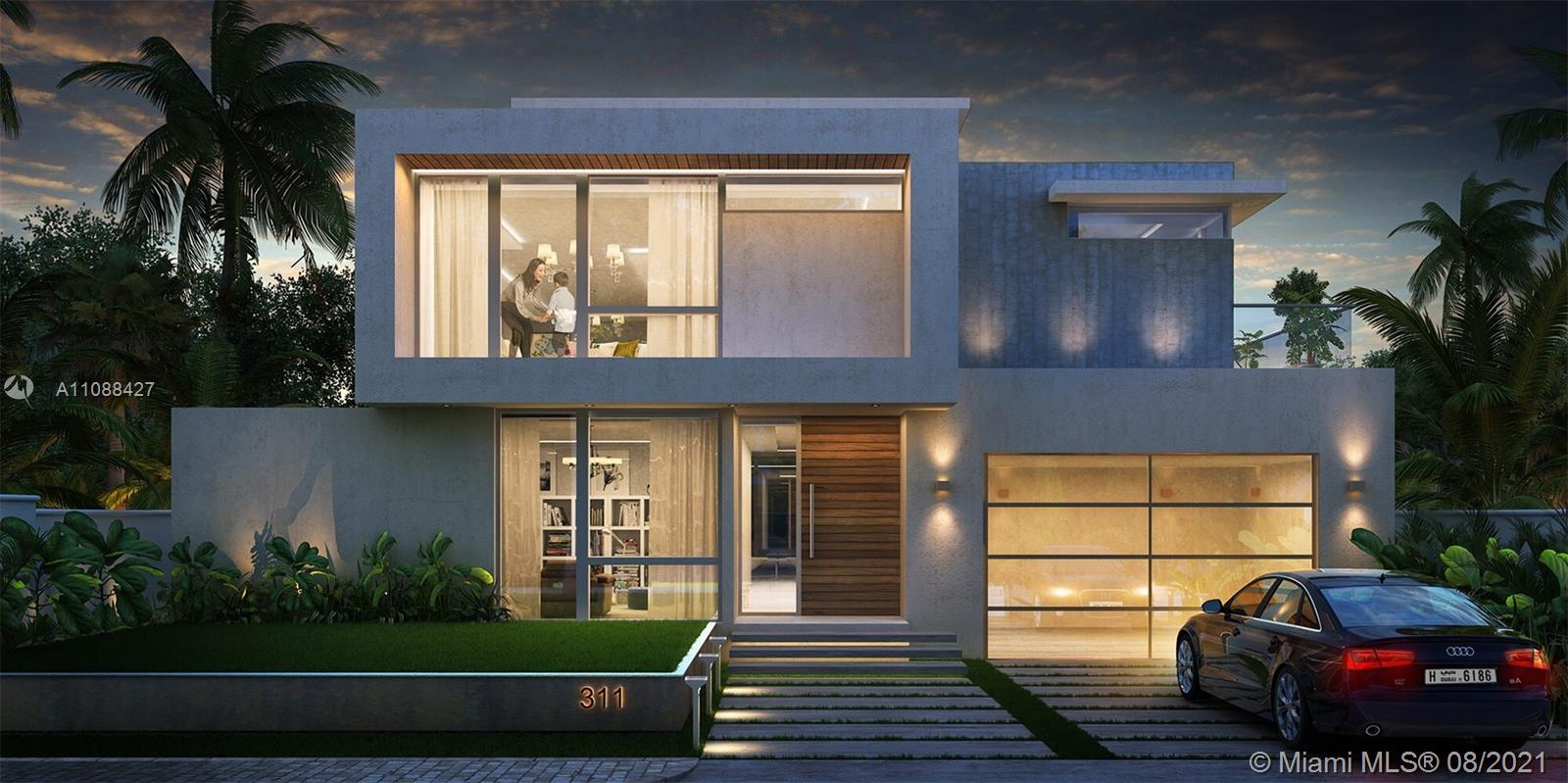 2021 Brand New Modern masterpiece built with the finest finishes in Sunny Isles Beach. A sleek architectural design offering a superb floor plan comprising 5 bedrooms, 5.5 bathrooms, 2 car garage, & laundry room. The property conveys the sensibility of South Florida living with its enormous impact windows, wraparound terrace & rooftop lounge w/ outdoor kitchen. Gorgeous gourmet chef ultra-deluxe kitchen with modern appliances. Luxurious master suite w/ breakfast area and designer luxe bathroom. All bedrooms are generously sized with spacious walk-in closets and seamless Italian doors. Contemporary elevator and custom wood stairs.  The last opportunity to acquire a new construction home at this price point. Walk to the ocean. A+ School district. *Home ready for occupancy December 21*