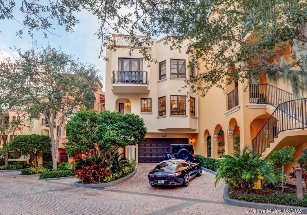 This lovely, spacious, tri-level 4/4.5 townhouse/villa w/elevator is simply marvelous. Perfect rental in Coconut Grove behind impressive gates of Cloisters on the Bay. This villa features nearly 5,000SF of living space. 1st floor features grand entry, large covered terrace, 1/1, and 2-car garage. On 2nd floor is the kitchen, huge living room, formal dining area, office, guest BR. 3rd floor has large master suite w/ walk-in closet. 2 guest BR 2 BA.  The home offers an elevator to all floors and a huge roof deck with bay views and jacuzzi. A convenient location for urban living in the heart of the Grove, close to great private and public schools, a sailing club, parks, cafes, restaurants, and entertainment, and the famous, now completely renovated, Cocowalk. AVAILABLE OCTOBER 15, 2021.