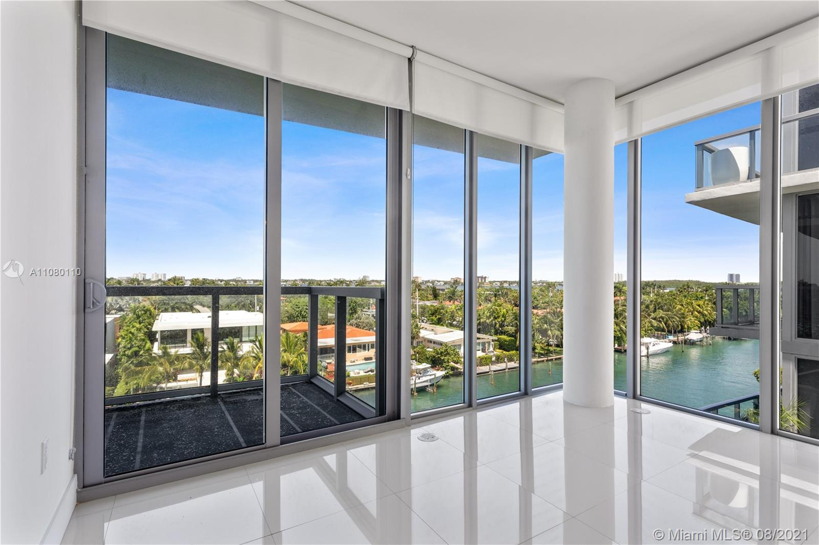 """BEST CORNER UNIT-2BEDS/2BTH+DEN. VIEWS BAY/WATER. BEST 2BEDS/2BTHS + DEN WATER VIEW and comes with 1 Assigned Marina Slip of 24"""". Boutique building 8 floors and 57 residences. 2car parking spaces & 1 assigned storage, Kitchen with European-style cabinetry, polished granite counter tops, marble floors & jacuzzi in bathrooms, White ceramic floors thru-out the apartment. Gorgeous views From the Rooftop pool towards bay and sunsets. Gym & Marina. Bal Harbor island is surrounded by Biscayne Bay, Indian Creek, Town of Surfside, and Bal Harbor. Walking Distance to Beach, restaurants and to the renowned Bal Harbor Shops. Best Public schools: Ruth K. B., Harbor K-8, Nautilus Middle School, Miami Beach Senior High School.NO WEEKEND SHOWINGS PER BUILDING RULES, NO SHORT, NO AIRBNB."""