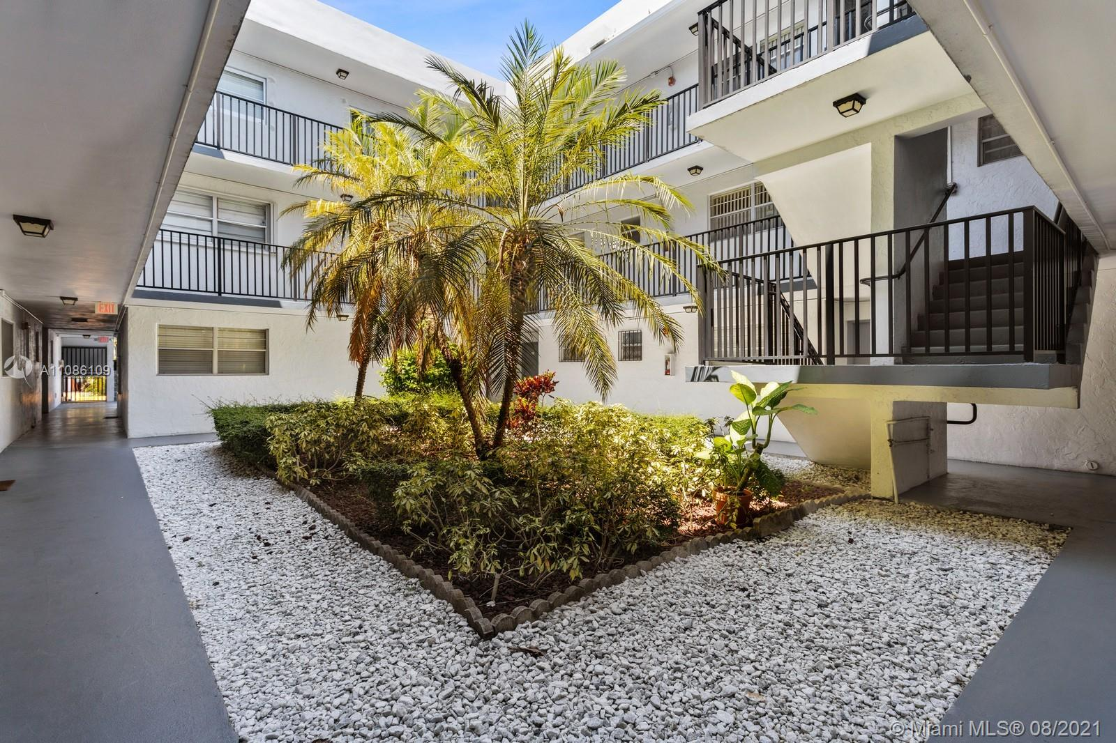 Sought-after location in Grove Gardens Condo. One (1) bedroom, one (1) bath unit, assigned parking space, gated community, swimming pool and short distance to Coconut Grove, Downtown Miami, and UM in Coral Gables. Also, for sale at $175,000. Easy to show!