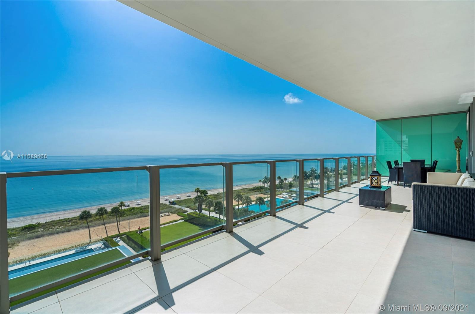 Gorgeous, finely finished flow-through unit at the exclusive Beachfront Oceana in Key Biscayne! Private elevator leads you into this spectacular 3B + Maid's quarters and 4.5Bath unit. Floor-to-ceiling windows and expansive terraces throughout encompass beautiful direct East and West views. 36x36 white stone floor in living areas and hardwood floors in bedrooms. 3 PARKING SPACES AND 1 STORAGE SPACE. This luxurious modern style building offers 2 pools, Tennis court, gym and spa, kids room, party room, Al-fresco Restaurant and Sand Volleyball on it's 500 ft private beach!