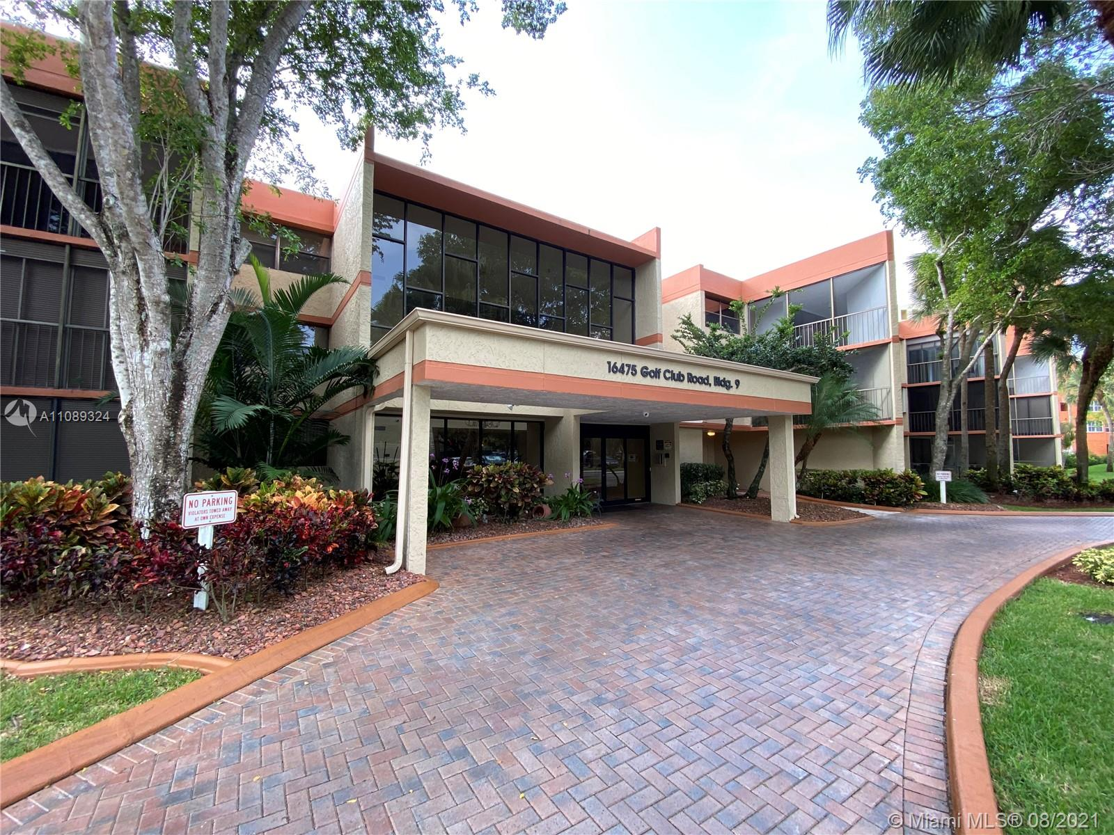"""REDUCED. One-of-a-kind 1 bed. 2 full baths CONDO in Country Club Village, Weston. Great layout. Tile flooring throughout the entire unit. Laundry room inside the apartment. Extra storage space outside the unit. Large balcony with sliding glass door that can be conveniently used as a private entrance through the front of the unit. The MASTER bedroom is HUGE, with two closets including a walking one, and a very comfortable bathroom. ADDITIONAL ASSIGNED GUEST PARKING FOR THIS UNIT. Weston has been ranked in CNN Money's """"Best Places to Live in America"""". This cultural gem is where you'll find art festivals, concerts, and celebrity golf tournaments. A city that offers an array of excellence from A+ schools to beautiful biking and walking trails for a tranquil Florida escape."""