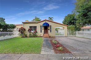 Lovely 1920's Old Spanish home in the heart of Coral Gables. This home has an open floor plan with many original features including fireplace, hardwood floors and a large remodeled kitchen with white quartz countertop. Outside there is a large patio and landscaping space for entertaining. In addition, the home has a detached garage. Its in prime location minutes from miracle mile and everything we love about Miami. Updated photos of Kitchen will be uploaded..