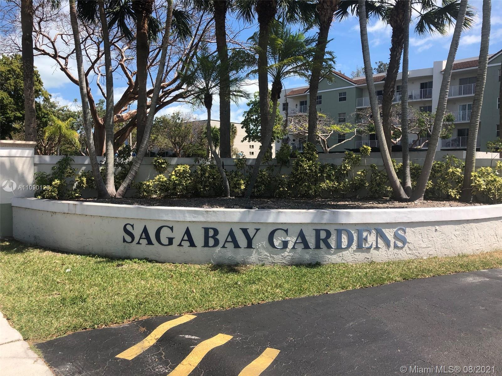 SAGA BAY GARDENS! Well maintained 2 bed, 2 bath unit is ready for immediate occupancy. Unit features an open floor plan with warm wood laminate flooring through out. Updated kitchen & baths, walk-in closet, balcony, a well maintained community with walking trails, community pool, gym, tennis court, beautiful lake views and 2 assigned covered parking spaces. Easy to show - please see broker remarks.